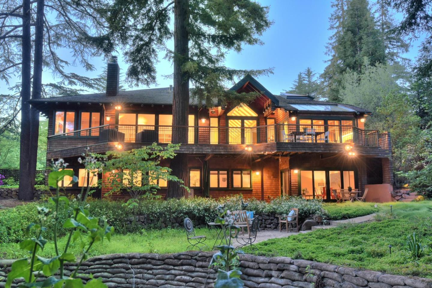 Private Sanctuary just Blocks to Town. Embraced by towering redwoods meadow grasses u0026 a soothing creek the grounds u0026 views with this home are so gorgeous ... & 1 Adobe Creek Way Los Altos CA 94022 $5298000 www ...