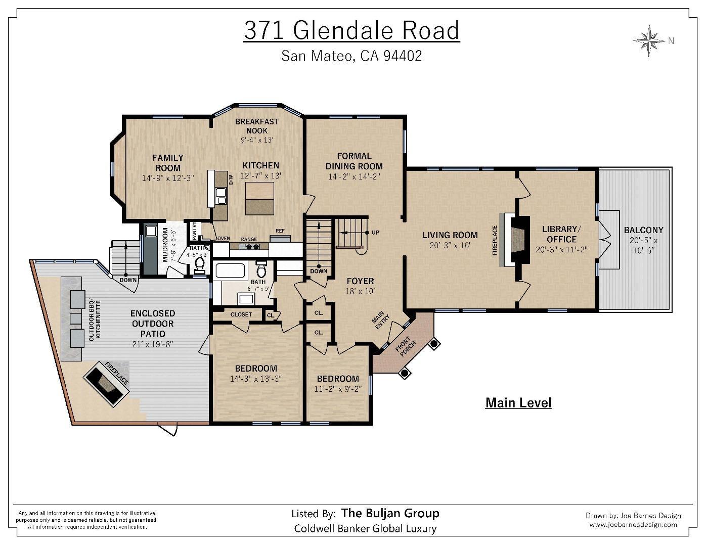 371 GLENDALE RD, SAN MATEO, CA 94402  Photo