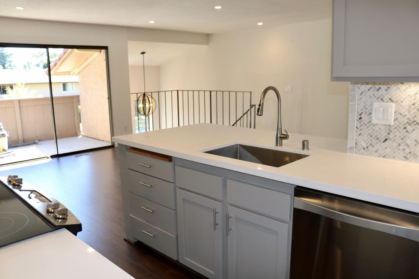 New Price!! This highly desirable townhouse would be perfect for student housing, a second home or first time home buyers.  Walk to UCSC from this super cute & clean, beautifully remodeled townhouse!  2 bedroom, 1.5 bath, located on the Upper Westside!  Or would make a great investment/rental opportunity!  Some of the updates include: brand new wood laminate floors, brand new appliances, refaced cabinets, remodeled bathrooms, new LED lighting and a gorgeous remodeled kitchen featuring stunning white quartz counter tops. This home sits on a small cul-de-sac in a very well maintained community with covered carport parking and a private, gated and landscaped courtyard.  Only moments away from UCSC campus, University Terrace park, multiple hiking/ mountain biking trails and down the street to all Westside restaurants, stores, and Santa Cruz beaches!  A rare, turn-key property ready to go!  NEWLY REMODELED KITCHEN & BATHROOMS!