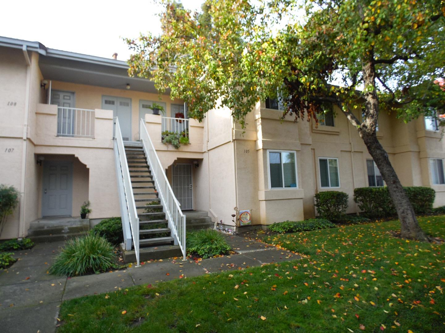 Sought after Brookmeadow complex, near Safeway center and Hwy 580. Amenities include 2 pools, 3 spas, clubhouse, tennis courts, playground and large park. Updated 2-bedroom 2-bath first floor condo. Dual pane windows new in 2016. New blinds 2008. Kitchen updated fall 2017. New vinyl flooring, new cabinets, new counters. Fridge new 2002, Dishwasher 2011, stove 2007, carpets 2008. Walk-in shower in master bath updated 2007. Hall bath updated 10/18. New water Heater 2014. Air conditioner/furnace new 2002. New thermostat 2016. Fire sprinkler system. In-unit laundry, with new stackable washer/dryer 2017. Secluded location in complex, surrounded by green belts. Enclosed patio with storage and sensor light. 2 assigned parking spaces, one covered. Lots of guest spaces. Lower HOA fees for above average amenities.