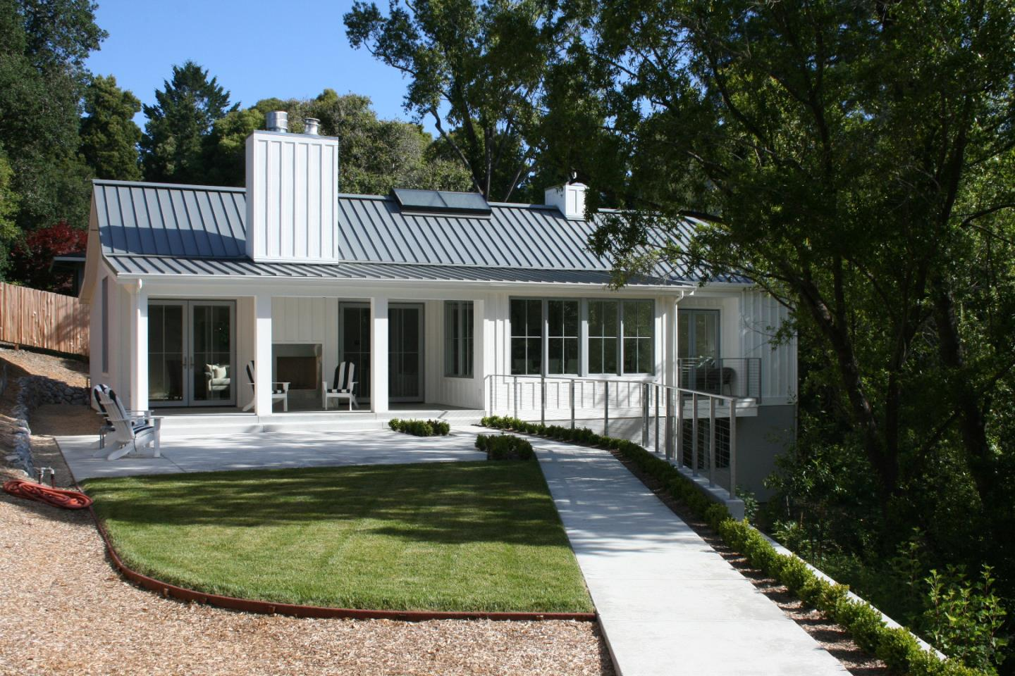 "Stunning BRAND NEW Pasatiempo Custom Modern Farmhouse!  Bordering a peaceful & serene creek, 3 Bedroom / 2.5 Bath (2504 sq ft) home w/ Guest Cottage (616 sq. ft.) with full bath and washer/dryer hook-ups designed by local Architect, Thomas Rahe. Imagine Napa meets Pasatiempo!  Beautiful 16 ft Vaulted Wood Ceiling, High End Kitchen Appliances (48"" Commercial Style Range, 42"" Built-in Refrigerator, Beverage Center), Du Chateau Hardwood thru out, Gorgeous Master Bedroom Ensuite w/ Free Standing Tub, Carrera Marble, Italian tile shower.  The 1 Bedrm / Half Bath Guest Cottage features Du Chateau flooring and cozy Gas Fireplace for your guests to enjoy.  4 Fireplaces thru out the home, sunny Porch w/ fireplace, Large Dining Area, Sonos wiring, Marvin Alum Clad Wood Windows, 8 FT French Doors, Standing Seam Metal Roof with a beautiful Skylight to capture light of the trees and sky on this dreamy parcel. Pasatiempo is truly Santa Cruz's best kept secret.. swimming, tennis, restaurants & golf!"