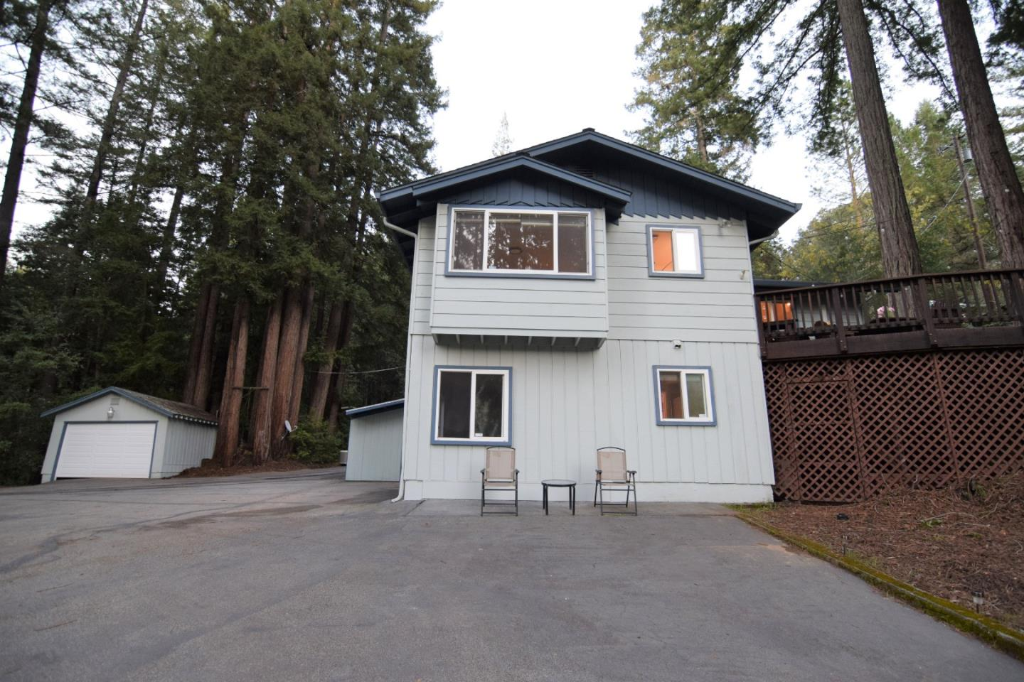 Your Dream Vacation or Permanent Home is await at great Location & Conveniences *Easy to get to, off the beaten path & tucked away in a Resort & Park like Setting w/Breathtaking Views of natural beauty, Majestic Redwoods, Romantic Hiking Trails Down to the Creek *3-5 minutes to Downtown Boulder Creek & Elementary *Good Cell-Phone Reception, Comcast & WiFi Ready *Large Circular Driveway & Tons of Parking *Lots of Sunshine, Amenities, and Upgrades *Huge Deck w/Great Views of Redwoods, perfect for Outdoor Living/Entertaining/Weddings *Enter the House on ground level to all 4 bedrooms & 2 bathrooms *1st Level offers an extra LG Bedroom, Full bath/Shower, LG Family Rm w/a pellet stove, a Rec Rm, Wine Cellar, Bonus Rm, Laundry & more *2nd Level offers a LG Living Rm, Dining Area, Kitchen, Breakfast Bar, 3 Bedrooms & Full bath/Tub *Nearby Golf Courses, Wineries, Restaurants, Shops, Markets, Roaring Camp, Big Basin Redwoods State Park & other Parks *Close to Santa Cruz, Silicon Valley & others