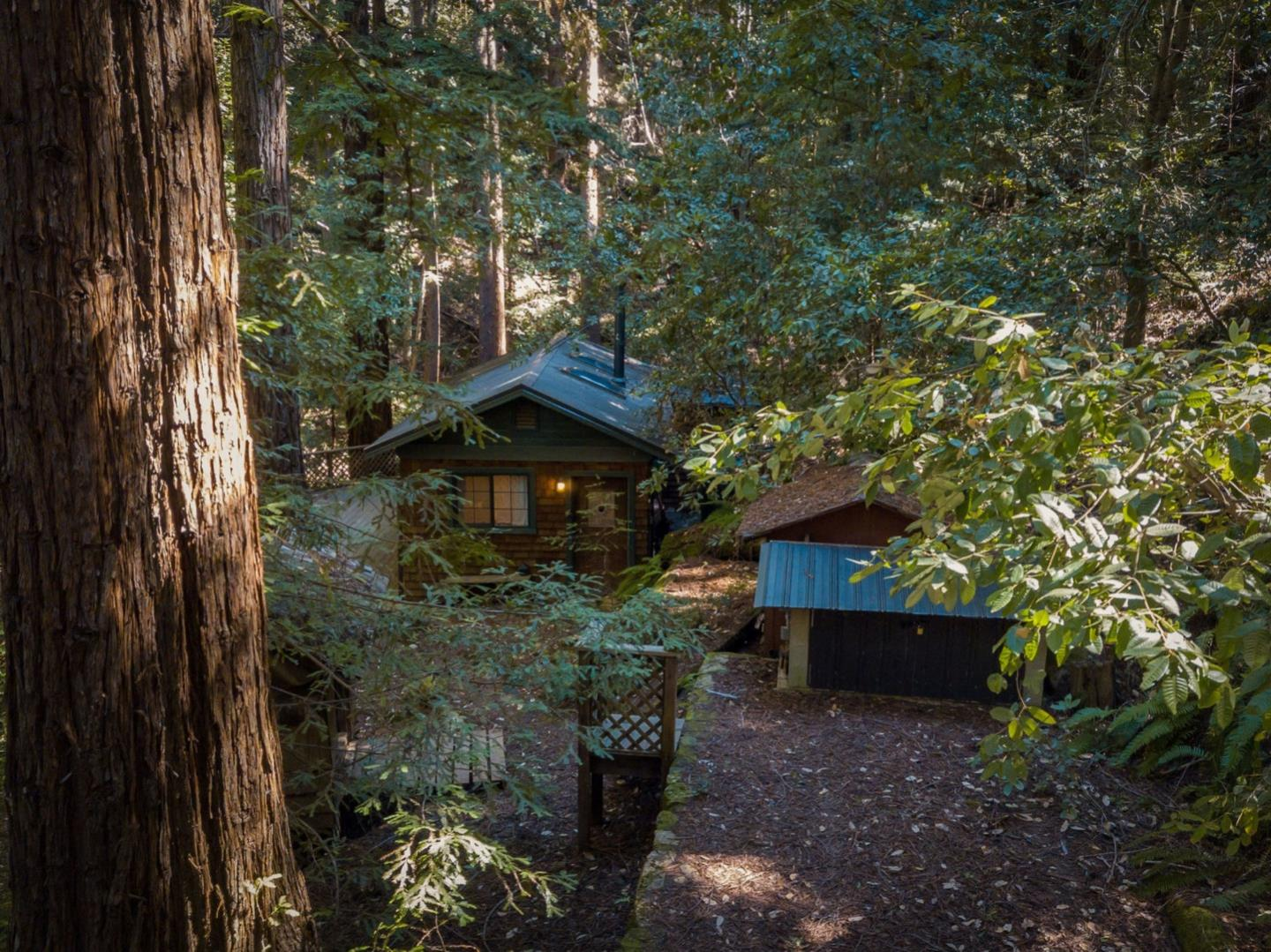 Burrowed deep in the redwood forest lies a sweet cabin retreat. Where the stars shine brighter, hear the owls hoot louder and the sounds of the rushing creek just off of your large private deck. Connect with nature and decompress from your daily life in both a quiet and relaxing environment. This secluded and completely self contained cabin is the quintessential weekend 'get away' from civilization and the perfect hideaway to recharge. On demand hot water, propane stove, solar power and beautiful Magee wood burning stove to keep you toasty. Metal roof, insulated floors and ceiling plus some dual pane windows. 4WD not required but recommended, 2001 Toyota 4Runner included with property for your convenience. Hit some of the areas best surf spots such as 4 Mile Beach, Ano Nuevo and Scotts Creek. Just minutes away from kite surfing, kayaking and hikes! Don't forget to visit the Elephant Seals at Ano Nuevo and nearby Whale City Bakery in the heart of Davenport.
