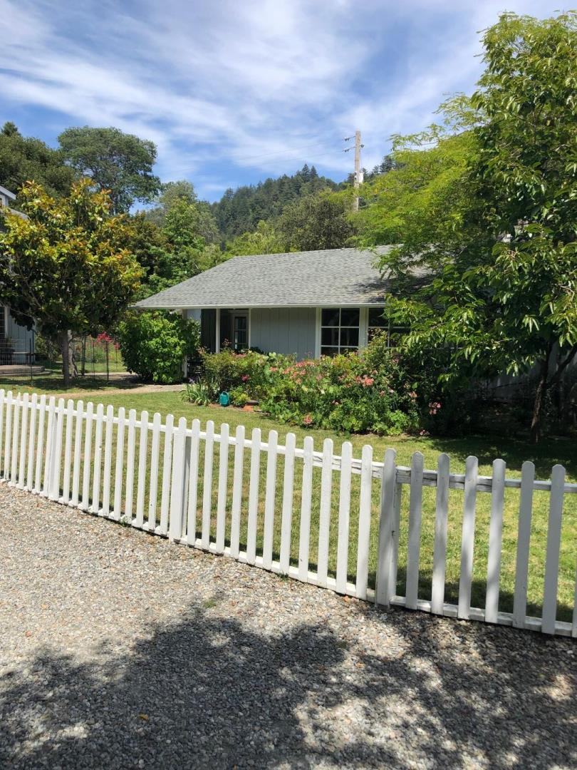 Located just minutes from Soquel Village.This turnkey 2 Bedroom, 2 Bath cottage features 2 Master bedrooms, large picture windows, granite counter tops, Stainless Steel appliances, upgraded bathrooms, and new carpet. Adjacent to the main house is a guest/ Artist Studio/office. Enjoy all of the amenities of this 1/3 acre, filled with majestic mountain views, beautiful gardens with fruit trees, one car garage, and carport with extra storage.