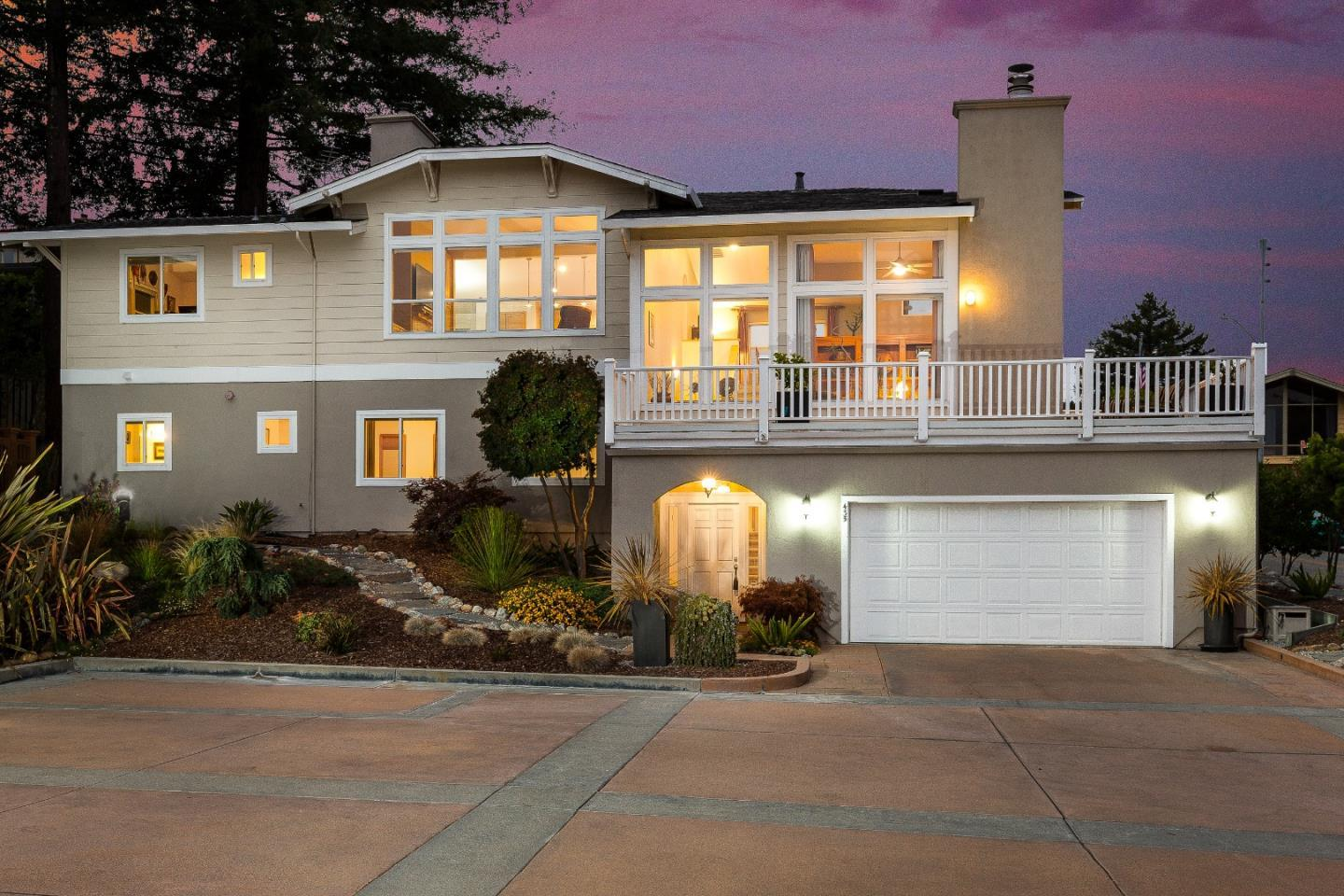 Gorgeous Ocean AND Mountain View Cabonera Estates Home! Spacious 3 bed home plus office and library w/great reverse floor plan. Large open gourmet kitchen with Granite tile, JennAir electric oven/convection microwave with downdraft gas stove top, Sub-Zero built-in fridge, and updated Bosch stainless steel dishwasher. Elegant separate dining room; every room in the high ceiling home is drenched in light from large windows; custom shades from Hunter Douglas. Large master suite has walk in closet, huge travertine bathroom with over-sized shower, double sinks and designed for privacy. Throughout the home you will find an abundance of build-ins, closets, book shelves and display spaces. Many updates, lightly lived in, and well maintained. Located perfectly in hill top Carbonera Estates; commuter-ready access to Hwy 17 with convenient access to downtown, harbor, beaches and other Santa Cruz local favorites. Views from spacious decks all around this beautiful home!