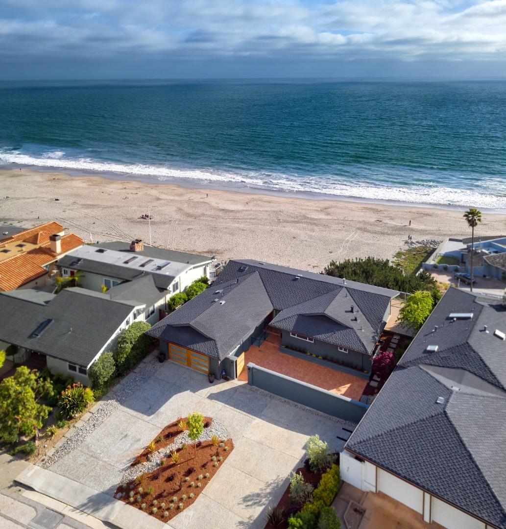 THIS SPECTACULAR SINGLE LEVEL OCEAN BLUFF HOME  HAS BEEN TASTEFULLY REMODELED WITH ALL NEW KITCHEN, BATHROOMS, FLOORING, WINDOWS, EXTERIOR DECK AND MUCH MORE. WATCH THE DOLPHINS AND THE WHALES FROM YOUR EXPANSIVE DECK. EASY WALK TO THE SAND. OCEAN VIEWS FROM ALMOST EVERY ROOM. THIS HOME HAS THE WOW FACTOR WITH THE FULL 180 DEGREE VIEW OF THE MONTEREY BAY SANCTUARY