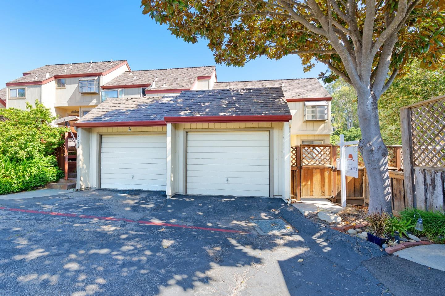 If you are looking for a charming townhouse style condo in a perfect mid-county location, look no further. This home is close in proximity to all that Santa Cruz has to offer: several beaches, The Municipal Wharf, The Boardwalk and the vibrant downtown garden mall, but also, within minutes of the quaint shops and restaurants of downtown Soquel, and the shopping on 41st Avenue in Capitola and Pleasure Point. The fenced front deck offers views of the Rodeo Gulch Greenbelt. Inside, a wood burning fireplace is the centerpiece of a spacious living room featuring a slider to a fenced backyard patio. Also, downstairs, enjoy the kitchen with breakfast nook. Upstairs, you'll find 2 bedrooms. The light-filled Master Suite features a private deck. This home is an end unit in a well-maintained community, and includes a 1 car garage. Don't miss the opportunity to see this lovely home!