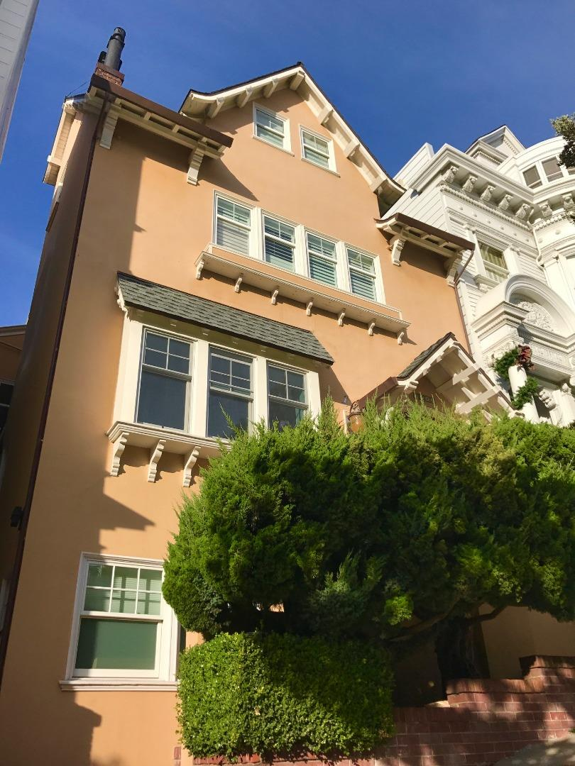 Newly remolded down to the studs in 2016/2017 this 3,650 square foot 3 bedroom with 3 in suite bathrooms and 2 powder rooms is ready for entertaining and family living.The large master bedroom has views of the Golden Gate Bridge, large walk in closet and beautiful bathroom w/designer bath tub,huge shower,double sinks with a hidden TV. The beautiful office/nursery looks out in to the eat in kitchen with built in high end appliances and a professional range for cooking.  New hardwood floors run though out the unit which occupies the first two stories of the two unit building. Radiant heated floors, new windows and doors, recessed cans and gorgeous bathrooms run throughout this unit located in the most beautiful part of Presidio Heights right off the park.Separate laundry room with European wall paper, built in iron and lots of storage.Lots of parking is available around the property and this quiet oasis in the city if the most coveted neighborhood in San Francisco.