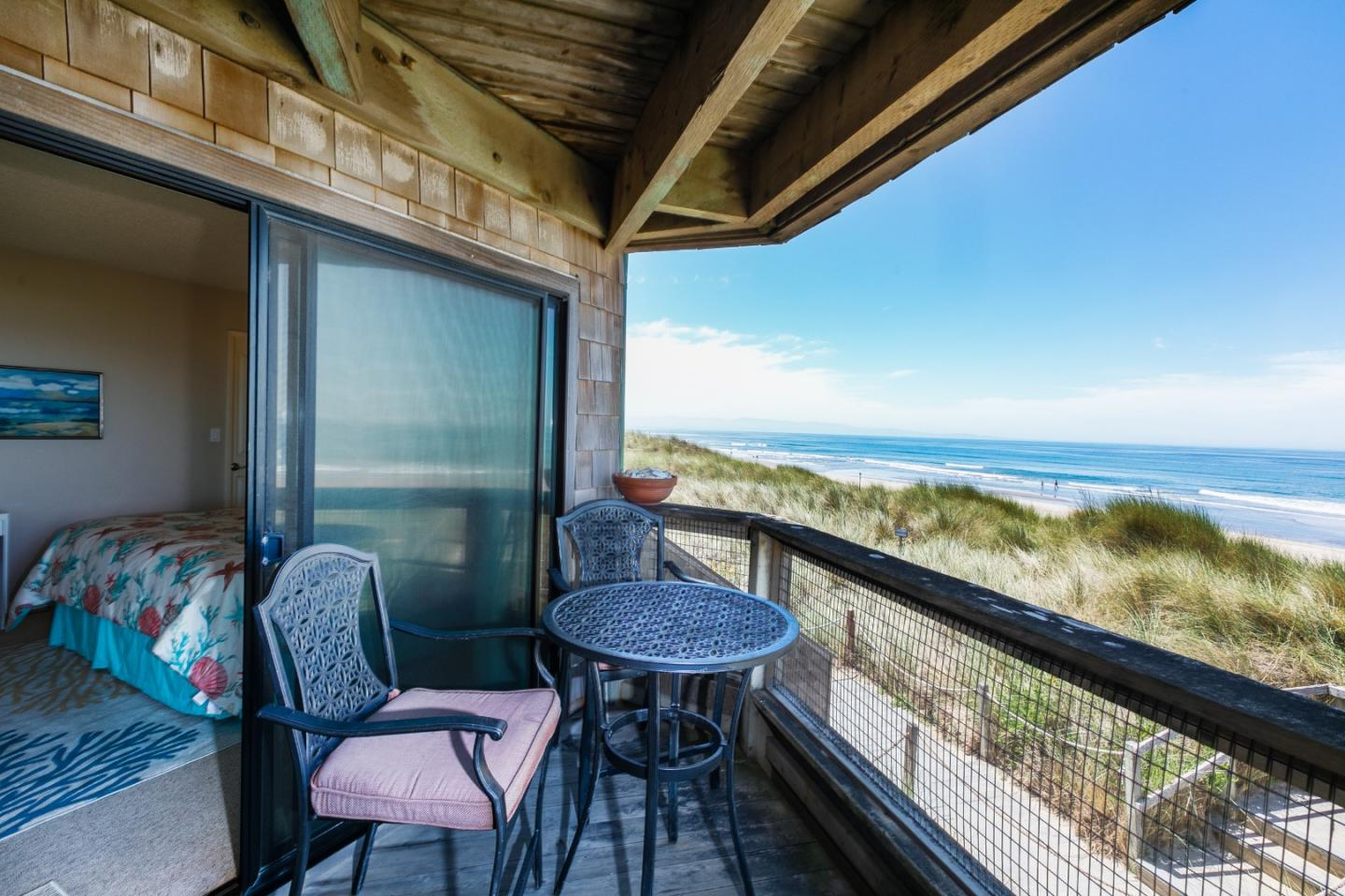 ON THE BEACH AT PAJARO DUNES BEACH COMMUNITY. 180 degree unobstructed view across the Monterey Bay! Right up in front with a full ocean view. Watch the whales, birds and boats on the bay by day, the sunsets over the water and city lights of Monterey and Santa Cruz at night. This ramp accessible condo is on the second floor providing easy access. The condo has been beautifully upgraded and is really a must see beach home. All furniture included with sale. Shorebirds is a gated community located about half way between Santa Cruz and Monterey. It's delightfully remote yet close to shopping, fine dining, world famous golf courses and surf spots. This is a private, gated community with 24/7 mobile security and a full fire department on site. These homes may be used as vacation rentals, long term rentals, primary home or just use for family and friends beach hide away. Homeowner's pets (2) are welcome here.