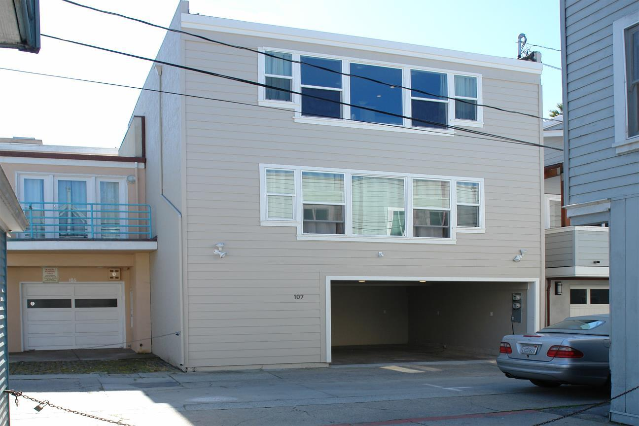 CAPITOLA VILLAGE DUPLEX in the Vacation Rental Zone...$898. sq.ft. for 2 units and a 300 sq.ft. bonus room. Remodeled in 2015 with laminate and tile flooring, new paint and new double pane windows throughout the interior units. UNIT ONE has 1200+ sq.ft. of living space with 2 master bedrooms...kitchen features include stainless steel appliances, quartz counter tops and recessed lighting throughout the unit. UNIT TWO is a 300+ sq.ft. studio with a breakfast bar. BONUS UNIT is 300 sq.ft. has it's own bathroom and closet...can be used as an extra bedroom or storage .Let your imagination run wild...use this unique property as a 4 bedroom/4 bathroom house or mix it up...use it as a vacation rental or a long term rental.There is a washer/dryer room and 2 parking spaces in the 342 sq.ft. garage. This property is steps away from everything Capitola is famous for...dining, shopping and the Capitola Beach.