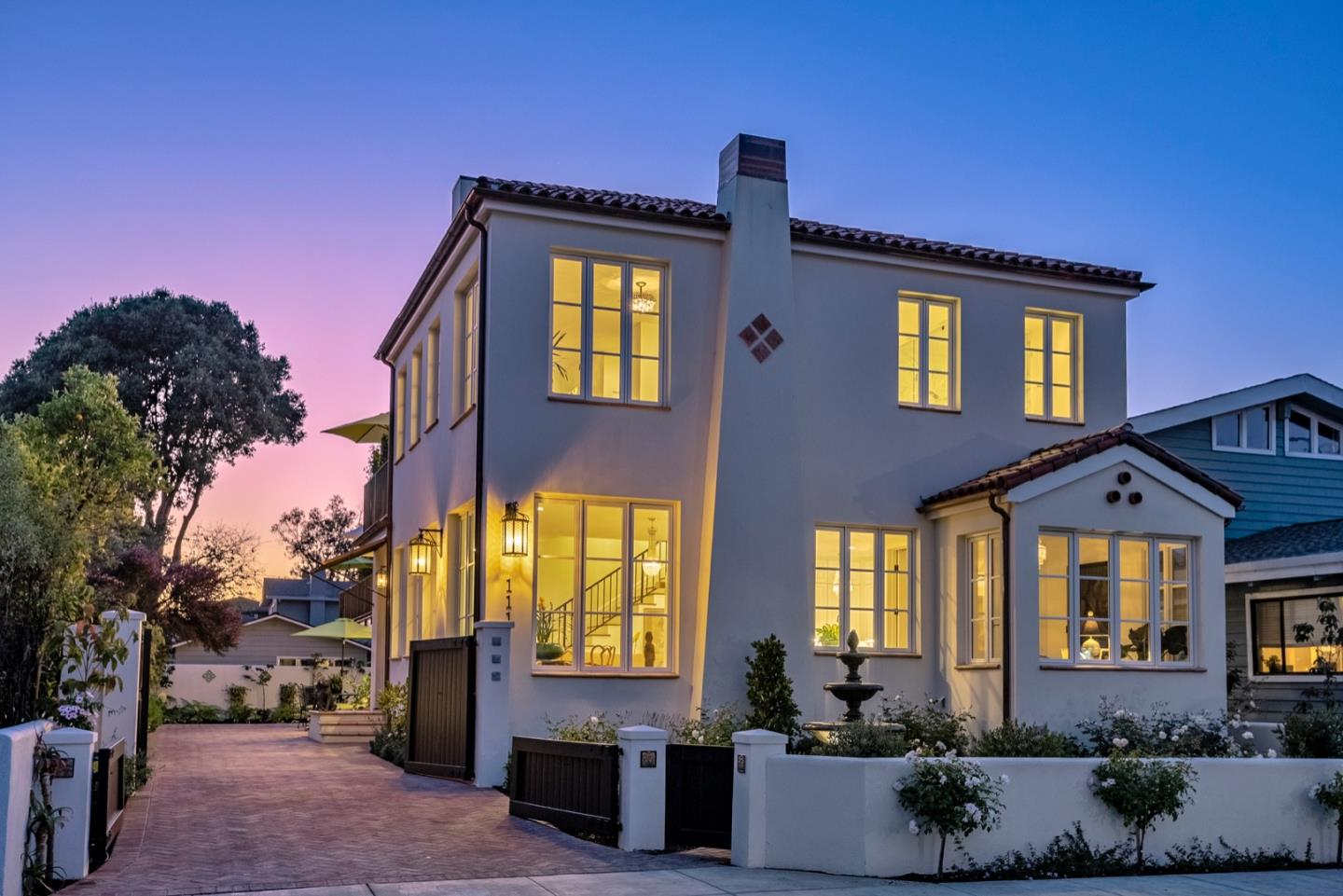 In the heart of Santa Cruz, one block from the Lighthouse, discover this unique and brand new Mediterranean masterpiece finished  to perfection in July 2019*This brand new custom home is approximately 3,904 SQFT w/ five enormous bedrooms, four interior designer bathrooms, a spectacular open floor plan, & a separate guest house w/ kitchen & living room*This very rare new estate is only 1-2 minute walk to the ocean & world famous Steamers Lane surf break*Complete gated privacy*Every attention to detail includes superior custom interior designer contributions, custom doors & windows, contemporary/antique light fixtures, top appliances, hardwood floors, custom marble tile & countertops* Enormous three car garage, private front office, mud room, & the 5th bedroom could be a 2nd family room/bonus room*Master suite includes a tall glass steam shower & soaking tub*Radiant floors & abundant closets throughout*Expansive courtyard, gardens, patios, BBQ Area, gated privacy, and excellent parking!!