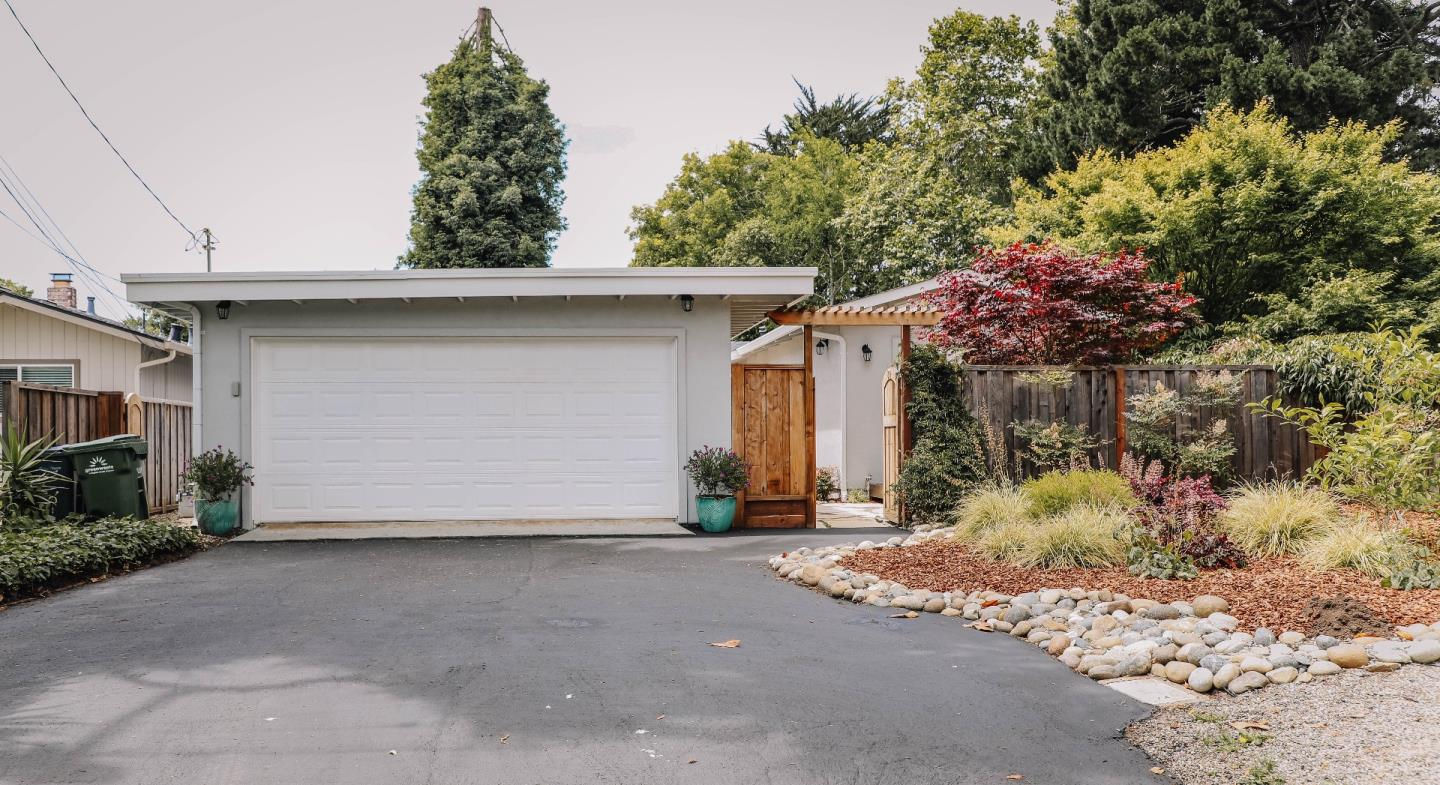 Elegant one-level contemporary home, completely renovated, remodeled and updated 2015-2016.....and only lightly used since then.  Short walk to hidden beach path. Brilliant hardwood flooring in all rooms.  Private back bedroom has French doors out to a quiet backyard, deck and hot tub. Kitchen features all new stainless steel appliances, quartz stone countertops, and a gas range.  Living room includes a high-end gas fireplace, open beam ceiling, and access to a separate office/den via French doors. This home was stripped down to bare wood studs about 4 years ago and was completely rebuilt.  Virtually everything is brand NEW as of that time....the electrical, plumbing, heating, roof, insulation, sheetrock, paint, windows and doors, appliances, laundry and all landscaping. Right out of Architectural Digest !  It's your turn to enjoy serenity at this coastal sanctuary!