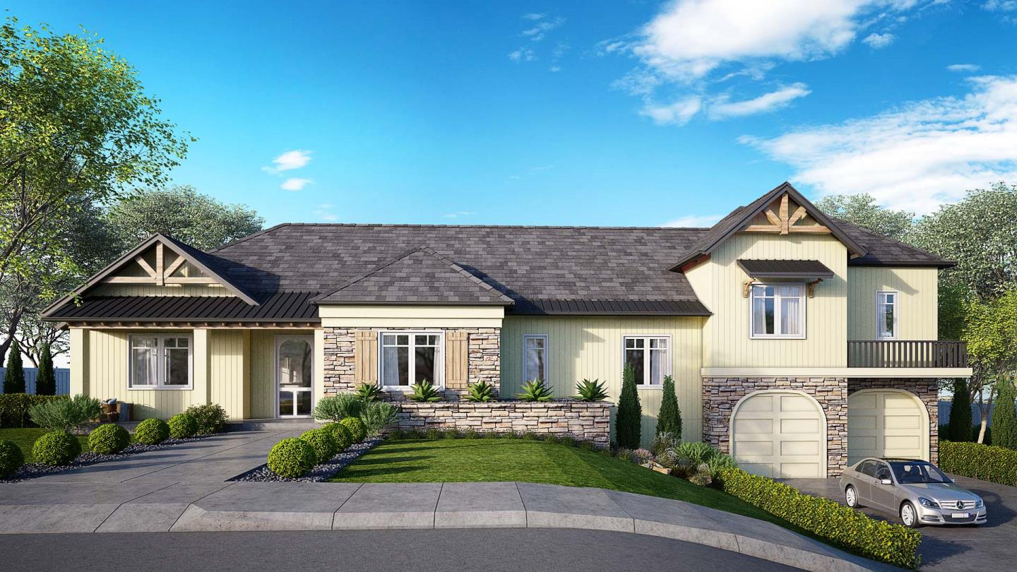 Seaview Luxury Estates. One of 9 luxury homes to be built in this new subdivision in a great commute location to Silicon Valley, minutes to Soquel Village & close to Capitola by the Sea beaches & village. Purchase the lot & build to suit or build per current plans. This modern Mediterranean home offers a great floor plan design with one of two lots with the greatest amount of level yard space with an almost 700 sq. ft. 3-car tandem garage. The main level has a formal dining room, large family room kitchen, pantry, laundry & great room with fireplace with access to a covered veranda. All bedrooms are suites, with two of the bedrooms including the main master bedroom suite with large walk-in closet on the main level and two others upstairs. A great rural like setting with surrounding greenbelts & walking distance to great parks, schools, shops and restaurants of Soquel Village. Get in now to help finish this home to your taste to be your dream home. Owner will consider a property trade.