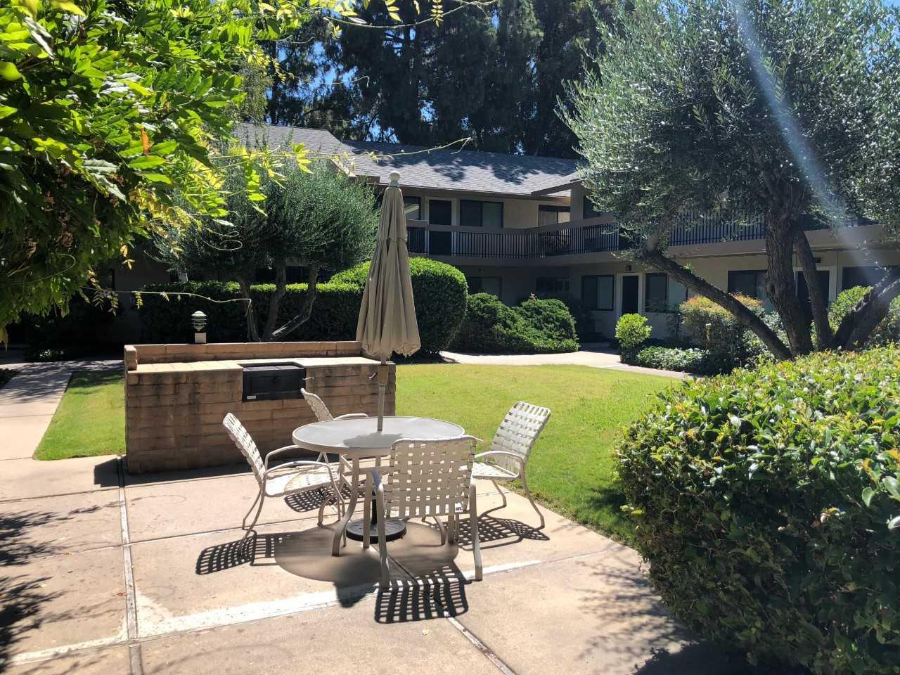 Close to everything and move-in ready! Spacious ground-floor end unit condo that has  large bedroom w/ walk-in closet, new carpet and paint throughout. Low monthly HOA  that covers water and garbage in addition to maintaining the grounds and inviting pool. Walk to the Pruneyard & its many shops and restaurants, 1/3 mile from Los Gatos Creek Trail & Campbell Park, 1/2 mile from Downtown Campbell and its unrivaled Farmer's Market, 4/5 mile from Campbell Library, under 1 mile from Whole Foods. Convenient access to 880, 17, & 280, Great public schools as well: Bagby Elementary, Price Charter Middle, Branham High. Great first time buyer opportunity, welcome home