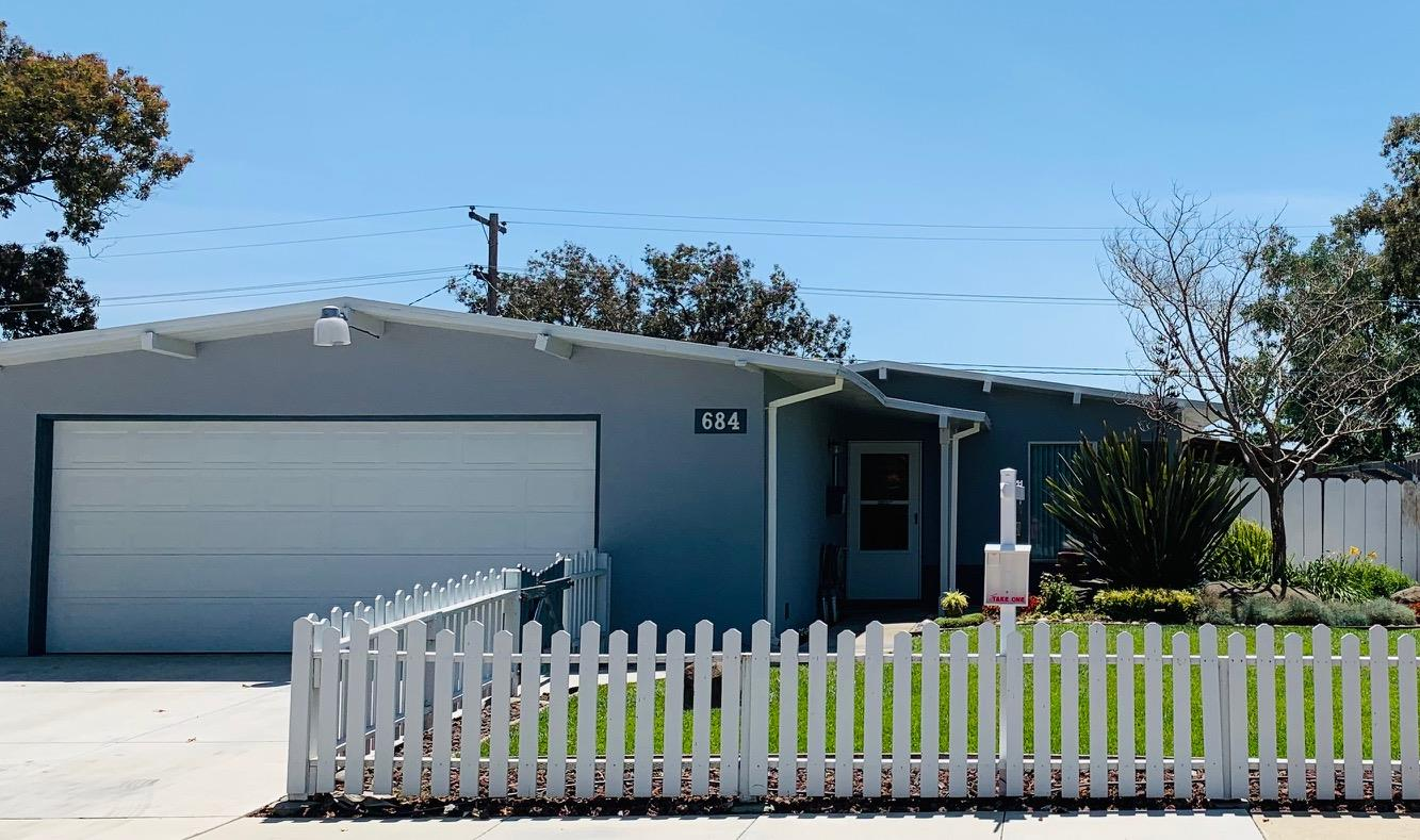 Detail Gallery Image 1 of 1 For 684 Meadow Dr, Salinas,  CA 93905 - 3 Beds | 1/1 Baths