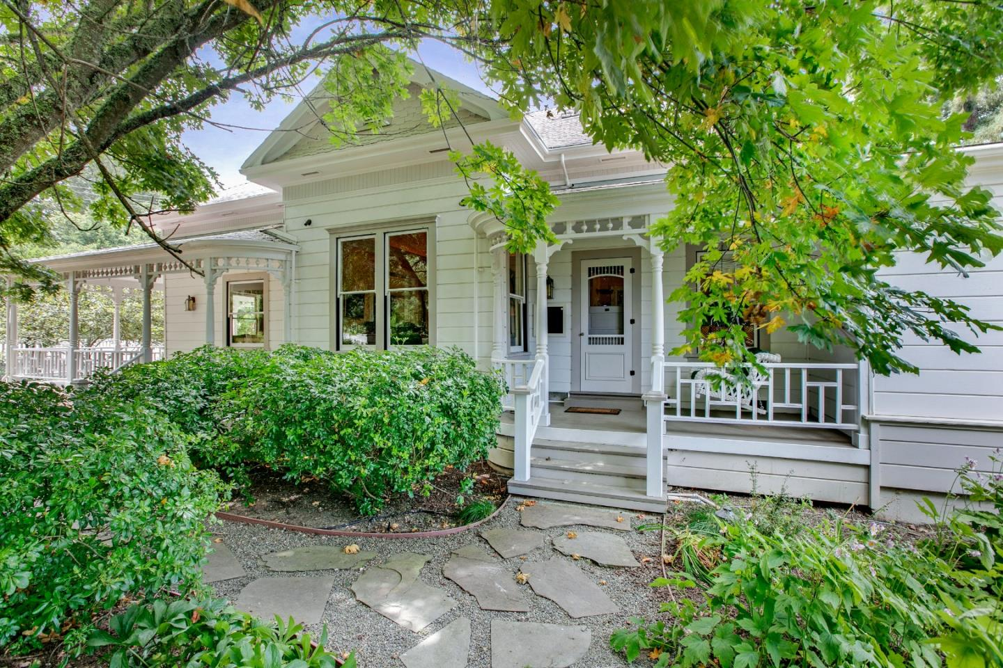 Sqft includes 2 guest units. Main house is 2325 +/- Sqft.Beautiful historical Victorian restored beyond its original glory.Gated parcel includes the remodeled Victorian home,original coach house,& replica of the original 2 story barn. The majority of land is useable.Main house has 3 bdrms,2 ba\ths w/marble tile,Jacuzzi-type tub in master bath & steam shower in the guest bath & a family room/library,which could be 4th bdrm.12ft ceilings & Brazilian cherry wood floors,formal living rm/parlor,large dining rm w/fire place.Gourmet kitchen w/slab granite counters,large center island w/quartz counter, top of the line appliances,cherry wood cabinets.Wine cellar,located below the main house.The coach house,has been transformed into a private quaint 1300 +/- sqft, 2 bdrm/1bth cottage has & has separate gated driveway & address.The 2400 Sqft barn includes, parking for 3+ cars,workshop,700 sqft office/guest home w/marble tiled bath & kitchen w/granite plus a 200sqft fitness room.Loma & LG schools.