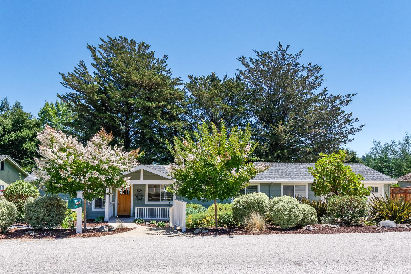 Don't miss out on this ONE-LEVEL turnkey home ideally situated on a quiet dead-end street on the North end of Scotts Valley! Ideal location for commuters or for anyone seeking a tranquil setting in a pristine community. Imagine the convenience of being walking distance to all conveniences, including the top-rated Scotts Valley schools. This beautiful home has ample storage inside and out and was completely remodeled in 2015 with stylish updated finishes throughout. Since that time, the current homeowners have added many improvements. The spacious and private back yard was beautifully landscaped in 2017. Imagine enjoying the sound of your own private waterfall while relaxing on the new redwood deck or while getting cozy by the outdoor fire pit. You will not have to spend your weekend time mowing the lawn, thanks to the new artificial turf.  This single story home is a true gem inside and out. See it before it's gone!