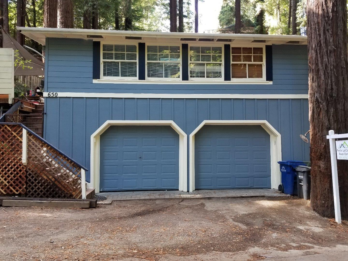 Very cute Forest Lakes home across from Lake. Rare 3 bedroom home in this price range also has a bonus room and an oversized two car garage & EV outlet. Home is freshly painted, and has some new flooring. Outdoors are two large decks, a garden and a natural redwood setting. Forest Lake and the recreation area is only 100 yards away. Walking distance to Felton and Henry  Cowell Park. 10 miniutes to Santa Cruz and Hwy 17. Inspection reports and disclosure available.