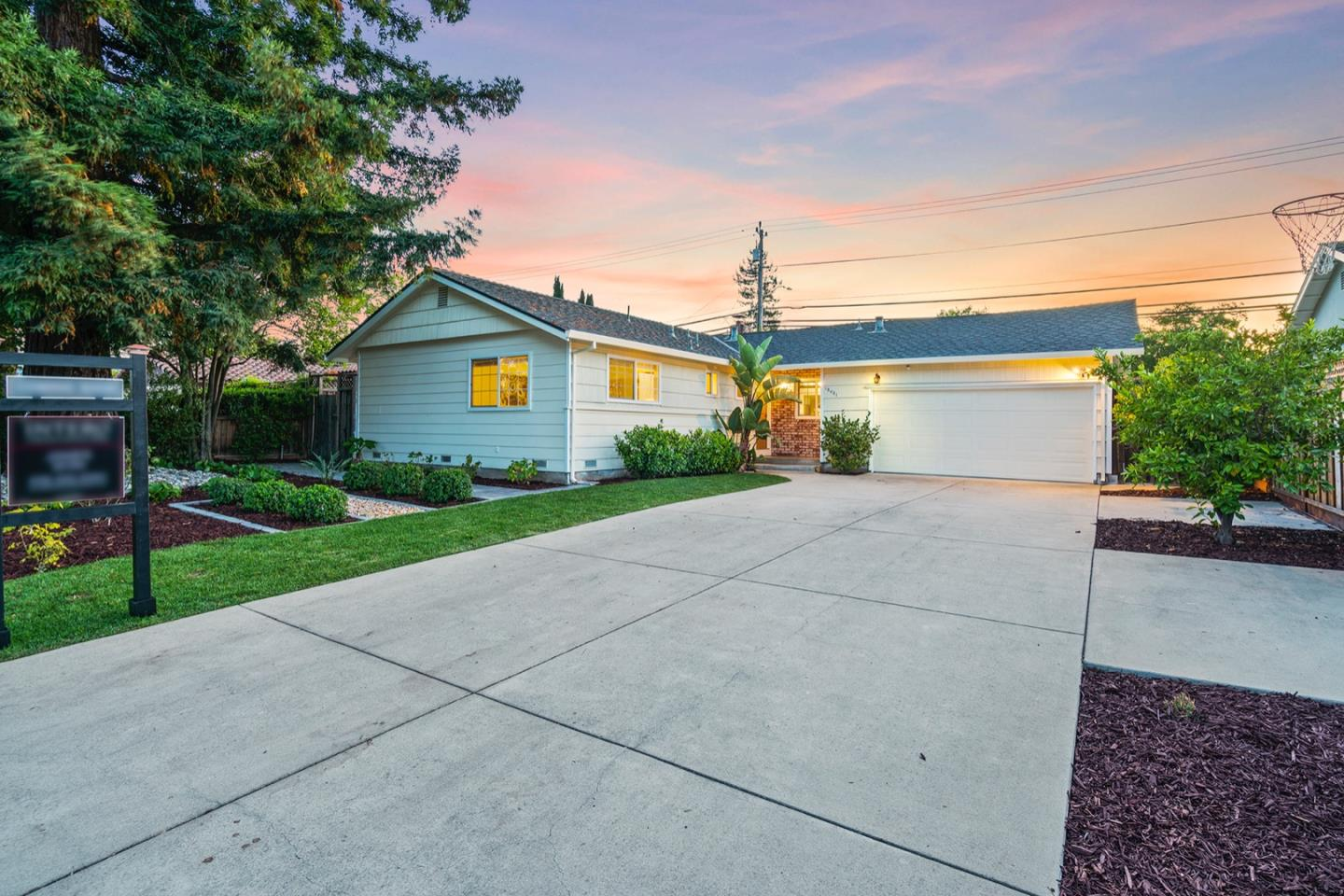 RECENTLY REMODELED & STAGED! Ideal location w/n biking distance to Apple & Netflix. Close to major tech giants. Remodeled & updated single level interior offers abundance of flexible space & opportunity to expand. Large lot w/deep setback. Potential ADU. Over 1,700 sf (measured) incl 430 +/- sf enclosed sunrm/fam. rm & office sp. New high-end engineered hardwood flrs. 3 bds, 2 stylish bths w/new vanities, tile, fixtures. High ceilings, crown molding, wood blinds, dual pane windows, sliders, French dr. Updated kitchen w/granite counters, bksplsh, upper glass-faced cabinets, stainless appliances. Living rm w/frpl & marble hearth. Nest thermostats. Updated wtr htr, fences, sewer line. Oversized 2-car garage w/laundry. Refreshed landscaping, fruit, mature trees, flagstone patio, side yds. Top-rated Forest Hill  (API 944) & Rolling Hills (API 919)  w/in a mile.  Centralized location. Easy access to Highways 85, 17, 280, Lawrence Expwy, Westgate Mall, airport, dwntwns Saratoga & Los Gatos.