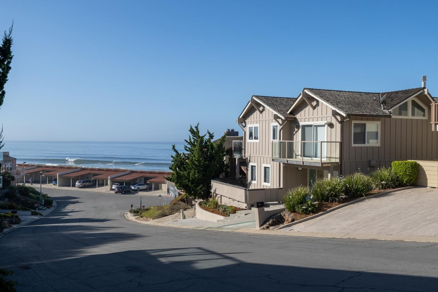Located in the gated area of Sand Dollar Beach, this beautiful 3 bedroom, 2.5 bathroom, 2037 sq. ft. ocean view property was featured in Sunset magazine for its beautiful home lighting concepts. Upstairs, the modernized kitchen and dining area have two adjacent decks overlooking the Monterey Bay National Marine Sanctuary. Located off the dining room is a beautiful living area with a gas burning fireplace and another ocean view patio. The upstairs master bedroom with an ocean facing balcony has a bathroom with powder room, dual sinks, and separate bathroom areas. With five ocean view decks you will feel like you are always on vacation. Downstairs, the reverse floor plan with two bedrooms, a second living area, one full bathroom with a sauna, and a wrap around deck, creates a feeling of privacy between the upper and lower levels of the home. Manresa and Sunset State Beaches nearby. Highway 1 gives easy access to Monterey and Santa Cruz. Come check out this newly updated ocean dream!