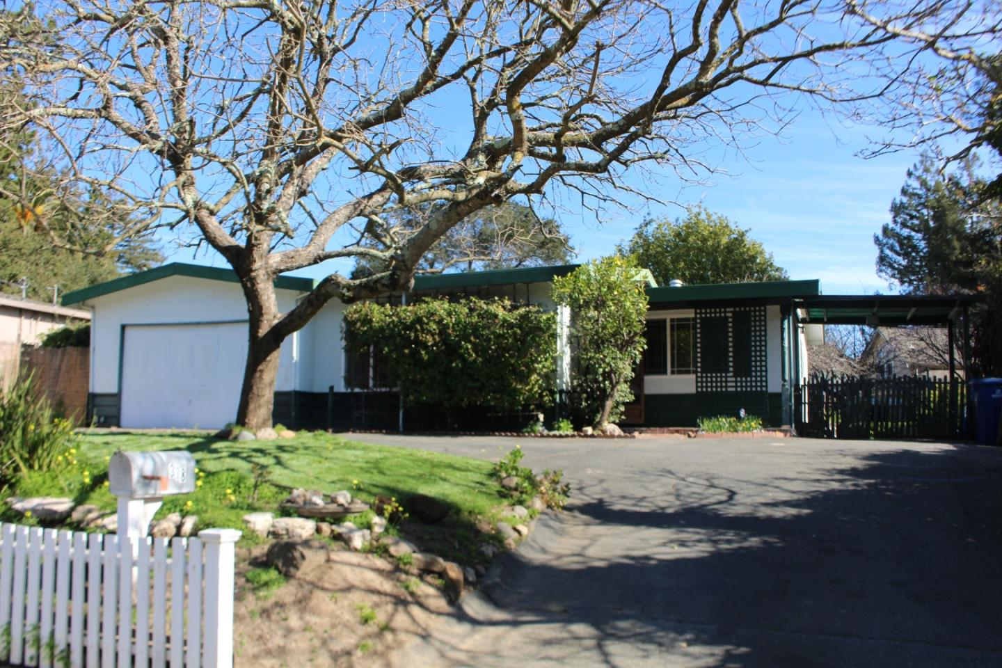 Surprisingly private, this little gem on PLYMOUTH Street,  like the classic car, is solidly built, fun and sporty.  Step into this mid-century classic single level home with plenty of parking in the circular driveway and tasty fruit trees in back Seller says there's room for a unit in the HUGE backyard (Gazebo gives you a feel). The home has a great layout with living room entry- just a fun space to hang out and relax. The dining room kitchen is just the right size with utility room for laundry and extra pantry  It's got a gas oven for warming up those late-night food deliveries. The retro pink bathroom is back and we've got one for you. Move-in and choose your own paint and carpet colors for an instant update.  Step into the market with a place you can call your own; just a short bike ride to downtown and everything Ocean St has to offer or a quick jaunt to Silicon Valley. It is located near the Hwy 1 onramp.