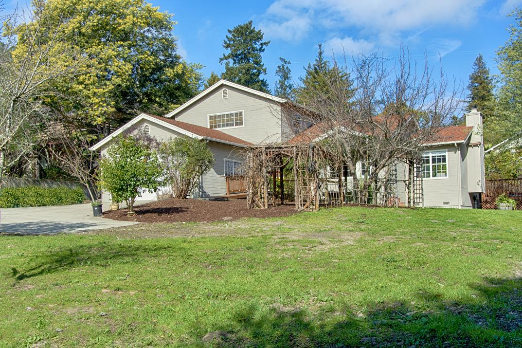 Where the sidewalk ends! This home is made for making music. Fresh and waiting for the next musician or media lover. 2 bedrooms and bath down 1 spacious bed and bath up. Easy access to both hwy1 and 17, Large yard, 3 Sheds, Hot tub on rear deck.