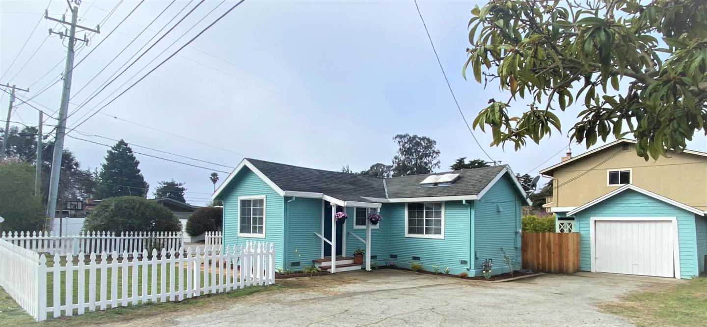 Cute 2 Bedroom, 1 full Bath, 800+ sq ft single story cottage, situated on over a 5700 sq ft lot, with a detached garage, in the sought after Seacliff Beach area! New white picket in the front yard and a newer redwood fence encloses the rear yard. Features include: recent interior and exterior painting, Pergo style flooring on the interior, double pane windows, french doors out to the yard, newer blinds, a spacious kitchen with 2 skylights and tile counter tops. This is a sweet starter home or 2nd home for those who want a Santa Cruz area getaway! Only a few blocks to Seacliff State Beach, the new McGregor skate park, restaurants and excellent freeway access to Highway 1 North or South!