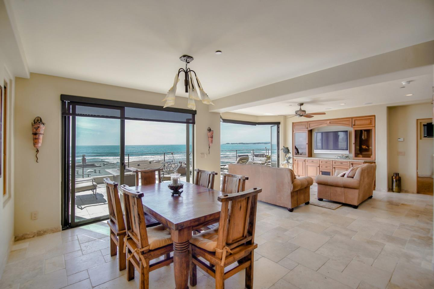Stunning ocean views from every room! This one-of-a-kind beach home is located in a highly-desired gated beach community just steps away from Rio Del Mar Beach. The home was built in 2007, by an owner/builder, and shows top-of-the-line design & quality. The home features 2 master suites - one with a dual see through fireplace, over-sized tub, and walk in closet. There's a family room on the 2nd level and a living room on the 3rd level. Also on the 3rd level is the chef's kitchen, dining bar, and dining room, all overlooking the beautiful blue ocean. Plus the home features two separate 1-car garages and plenty of off street parking for friends and family. THIS IS A MUST SEE!