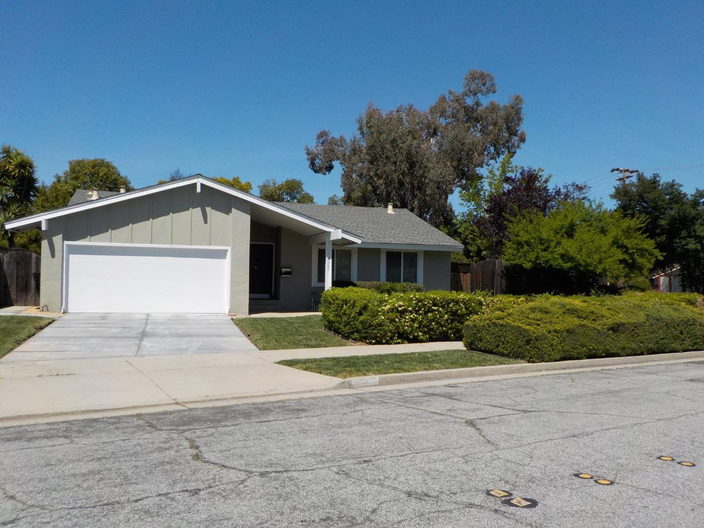 This beautufully remodeled home is true GEM! Featured updated 3 Beds/ 2 Baths with Remodeled Kitchen,Bathrooms, newly painted interior. Open floor plan with Living room, dining area. Serene and Flat back yard with swimming pool.                             Corner Lot  Over 9000 SQFT. Dual Pane Windows, Prego Floor. Very easy access to Hwy 280,Hwy 101 and Hwy85. New inside Painting. High Ceiling, Marble Entry, swimming Pool, Fire Place in Livingroom , 2 car Garage, Huge front and back yard.  Must See !