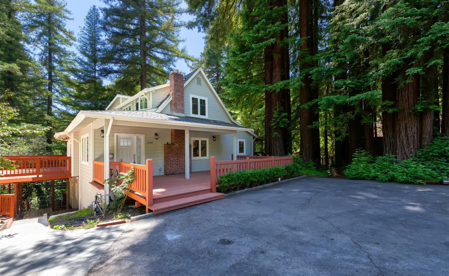 Back to Market! No way.... Nothing like this in Boulder Creek, totally turn key. Show and Sell!  Sheltering in place here wouldn't be so bad. You have a lovely updated mountain home located in seclusion, yet still a short distance to groceries and a babbling creek in your backyard. Although a half acre, this piece of land is ALL usable and mostly flat, except your private trail leading down to Boulder Creek. This would be a lovely place to start your next chapter.  Come see it!