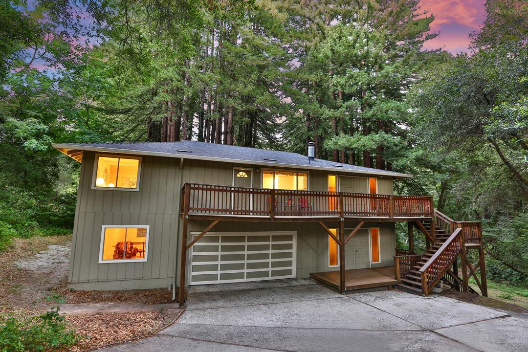 Come see this fully remodeled home minutes away from Downtown Boulder Creek. 45 minutes to Google, Ebay, Apple, and Tesla. 25 minutes to Santa Cruz and the beach or Los Gatos! New paint interior/exterior. New bathrooms, New Light Fixtures, New Luxury Vinyl Plank flooring throughout home. New Carpet in bedrooms. New Quartz countertops and appliances. Backyard is surrounded by Redwood and there is a creek in your backyard!! This house is very SPACIOUS and there is plenty of room for your gardening ideas! Includes a bonus room attached on the side of the garage. Enjoy the peaceful serenity surroundings and make this your new place to call home!