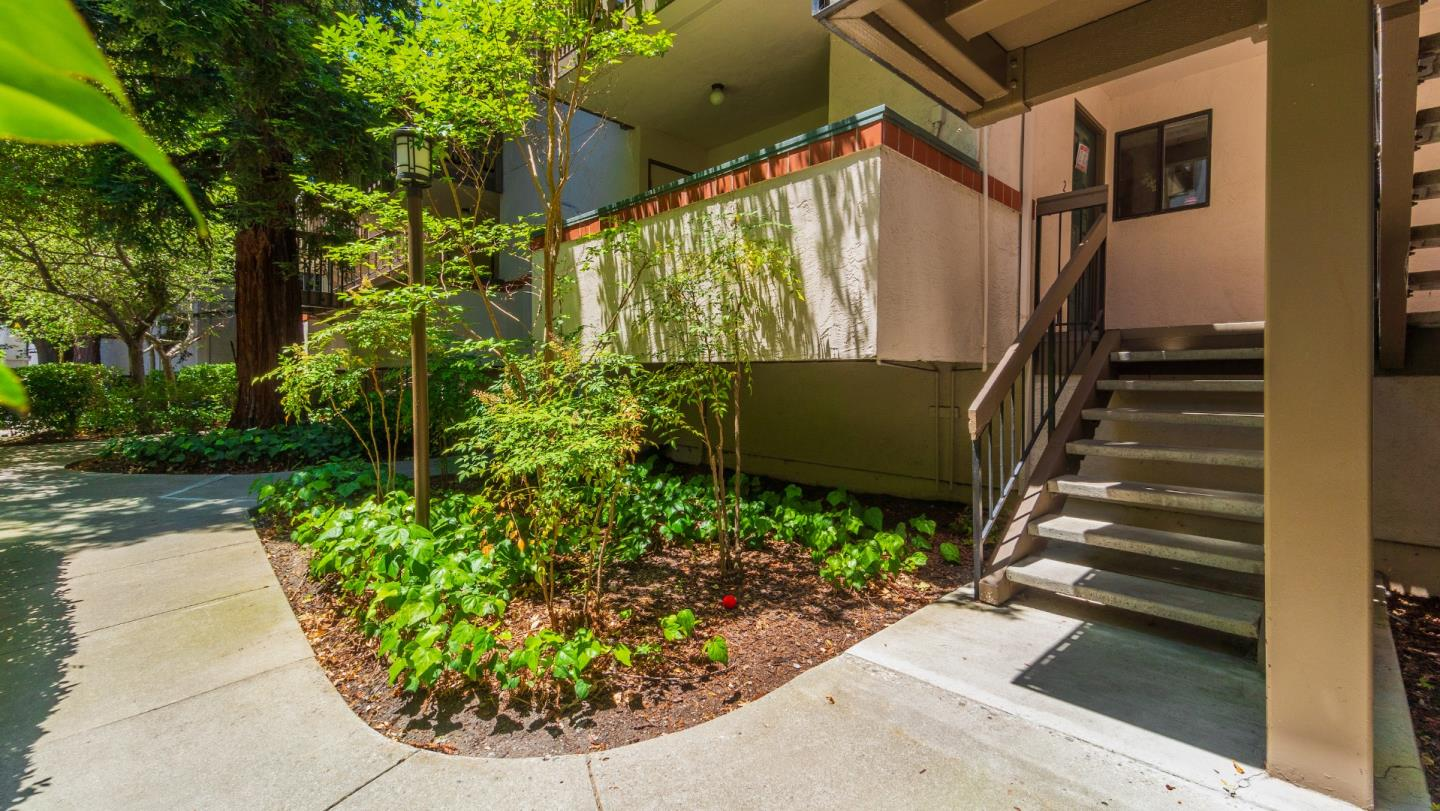 It is a beautifully remodeled, contemporary, well-designed, one-bedroom condo with high-end finishes! The living room/dining room combo features a slider door out to a fantastic balcony, new engineered hardwood floor, and recessed lights. Newer carpet in the bedroom, a large walk-in closet and a second balcony. Marble counters in the bathroom remodeled kitchen. Freshly painted, inside laundry with side-by-side washer and dryerTandem two-car garage, The complex features a pool and hot tub, two playground areas, an ample grassy space, and lots of mature trees. HOA dues are $ 392.00 Conveniently located close to New Apple Campus and other major Silicon Valley employers. Easy access to San Jose International Airport and Highways, 101, 85, 237, Central Expressway, Montague, San Tomas, and Lawrence Expressways. Don't miss this GEM!