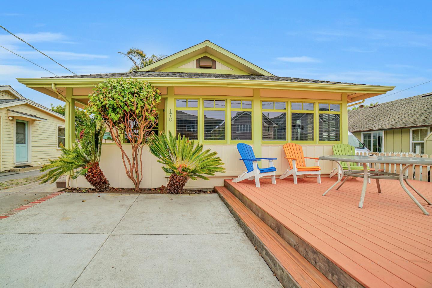 Price Reduced! Best Street in Santa Cruz leading to Black's Beach.  Create memories from this perfect Single Level 3BR/2BA Beach Home that will be passed down for generations of fun.  Stones throw ( 4 houses ) to your semi-private staircase to the Beach - Black's Beach surf spot to the left and the Crow's Nest & Harbor to your right.  Park the car and walk to everything.  Beautiful oak flooring through out, updated chef's kitchen with Viking range, oven and dishwasher, stone counter tops.  Newer beach-styled bathroom.  Ceiling is original wainscot to complete The Beach Theme. Great rear yard with deck & hot-tub with outdoor shower.  Front decks for entertaining all year round and enjoying the best sunsets.  Great 2nd home, investment / retirement home or working man or woman's sigh-of-relief hide-away.  Truly a rare opportunity to call the Monterey Bay your home! Open Houses will be held Sat. Sun 12-3 By Appointment. 3D Virtual Tour:  https://my.matterport.com/show/?m=xNcF979RC5w&mls=1