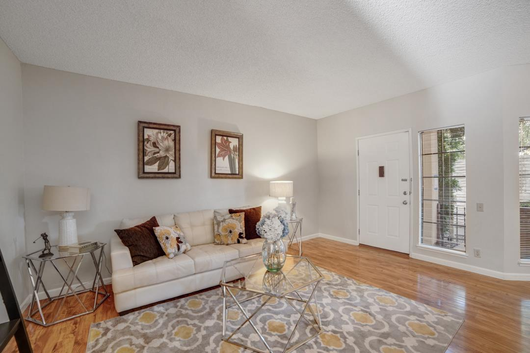Fabulous 2 bedroom, 1 bath condo at Corte Madera Commons in the heart of the Silicon Valley close to Apple, Google, LinkedIn, Microsoft and many other tech companies. This ground floor unit features laminate flooring throughout, spacious kitchen with granite countertop and an abundance of cabinet space, upgraded bathroom with beautiful tile floor and granite counter top, oversized patio, indoor laundry and tandem 2-car garage. Great commute location near Highways 237/101, Central Expressway, and Cal Train. Close to downtown Sunnyvale and all it has to offer! Enjoy the outdoors with Encinal Park and Sunnyvale Municipal Golf Course in the neighborhood. Enjoy access to Vargas Elementary School, Sunnyvale Middle and Homestead High.