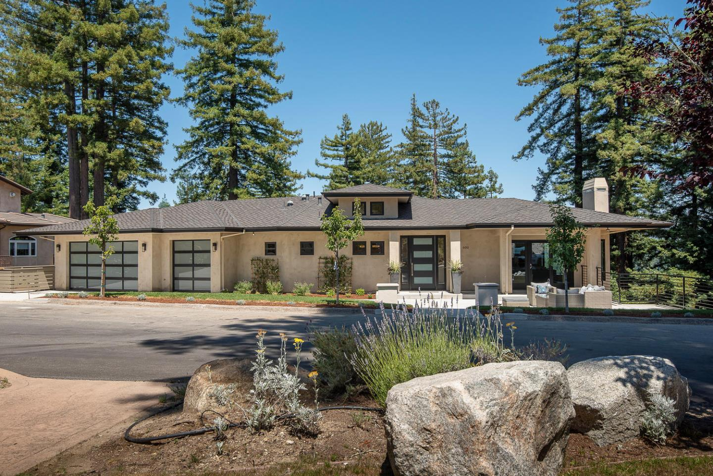 ***Ideal for 2 families- 2 br, 2 ba at ground level, 3 br, 2 bath at lower level**A rare find***A new home just completed.**Enjoy all the pleasure & freedom of living high above views of majestic redwoods & the ocean beyond in the small & peaceful community of Scotts Valley. A short distance from Los Gatos & Santa Cruz. Located in the prestigious Monte Fiore gated community, minutes from Silicon Valley. Close to all urban amenities yet secluded from it all. The Architecture is inspired by simplicity of Contemporary design. The kitchen features huge central island of Carrara quarts stone-the heart & center of this home. A perfect environment for family & friends gathering, cooking, dinning & celebrations. Huge family / rec. room / cinema w/ wet bar at lower level. 5th br could become the 2nd master suite w/ walk-in closet. Spacious wine cellar & 3 car garage. Enjoy a magnificent .46-acre cul-de-sac view site in a private setting for indoor / outdoor living, festive entertaining & play.
