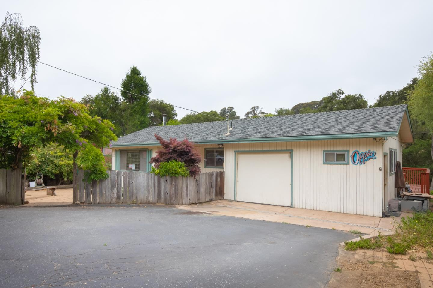 Desirable home in sought after established Soquel neighborhood. Located on a private cul-de-sac sits this single level home with interior amenities such as wood flooring, open floor plan, living room complete with woodstove, separate family and dining room, skylights, and kitchen with Corian counters. There are many windows allowing natural light and multiple decks to enjoy natures views. Exterior of the home has a large front yard/courtyard and back patio area that backs up to the creek allowing privacy. Enjoy the neighborhood park as you take a stroll and enjoy the Soquel life!