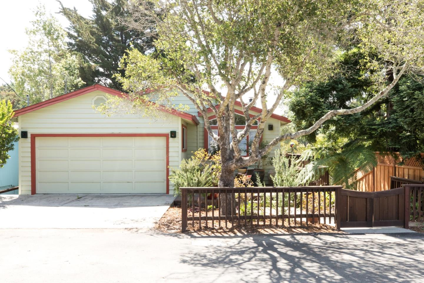 Beautiful custom home with views of Monterey Bay, located in a quiet hillside Soquel neighborhood. This 3BR/2.5BA home offers artistic details with custom lighting, glass chandeliers and acrylic art photos. Entry with Brazilian quartzite, maple wood floors, vaulted ceilings & skylights.Formal living, dining, and family room, eat in kitchen. Family room offers wood burning FP with mahogany & Brazilian quartzite, wood deck off family room, large open kitchen with natural maple cabinets, granite counters, gas cook-top, separate oven with built-in microwave, SS refrigerator & Miele dishwasher. Master bedroom with balcony, walk-in closet with floor to ceiling maple and glass cabinets, Master bath w/Indian Amigmatite stone floor, counter tops, shower walls & bath surround, mahogany vanity and Jacuzzi tub.Central heat and AC with Ecobee thermostat, washer/dryer, dual pane windows, 2-car garage with floor to ceiling cabinets. Walk to downtown Soquel or bike ride into the Village of Capitola.