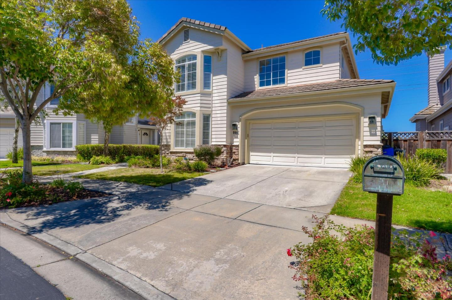 Nestled within the prestigious and highly sought-after community of Governors Bay, this is a luxurious residence that you will be proud to call your own. Private & peaceful living is guaranteed with a neighboring green space at the rear of the property & uninterrupted views over SF Bay & open marshlands. Home features a 2-story open concept living space. Open layout features a great room with kitchen, an eat-in dining area & a family room with fireplace. No neighbors will disturb your privacy as you wine & dine with an open Eastern facing views. Step through the patio doors to the backyard where you can entertain guests. Gardens are easy-care & established. Plenty of room to cook on the grill or unwind with your morning coffee. 5 bdrms & 3 full baths service the home including a main-floor bedroom & full bath, ideal for use as guest accommodation or as an in-law suite. 4 light-filled bdrms are housed on the second floor with an opulent master with show-stopping views out to the Bay.