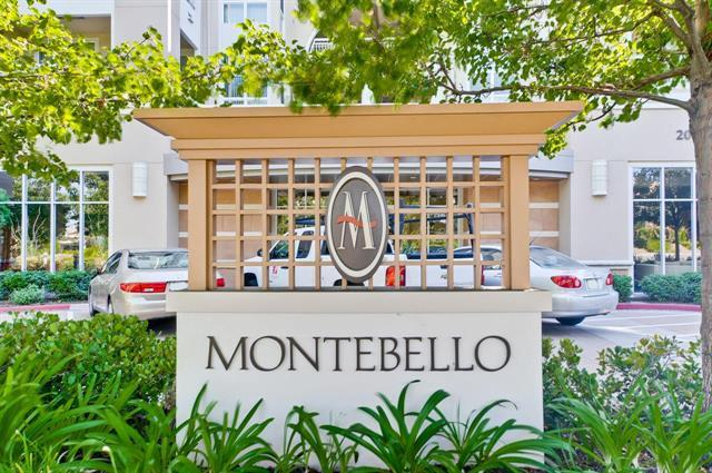 Top Cupertino Schools!! Luxury Montebello High-Rise at the corner of Stevens Creek/De Anza.1BR/1BA+Balcony.LargeDR/LR Combo.Master w/walk-in Closet.Specious kitchen w Granite Counter tops and breakfast Bar.Inside Laundry,Central A/C,Secured underground parking w elevator. Extra STORAGE LOCKER located in under ground garage. Minutes to Marina,Library,Parks,Restaurants,Shopping,Fwy 280/85.Close to Apple and jobs. Shows Great! No rental Restriction.
