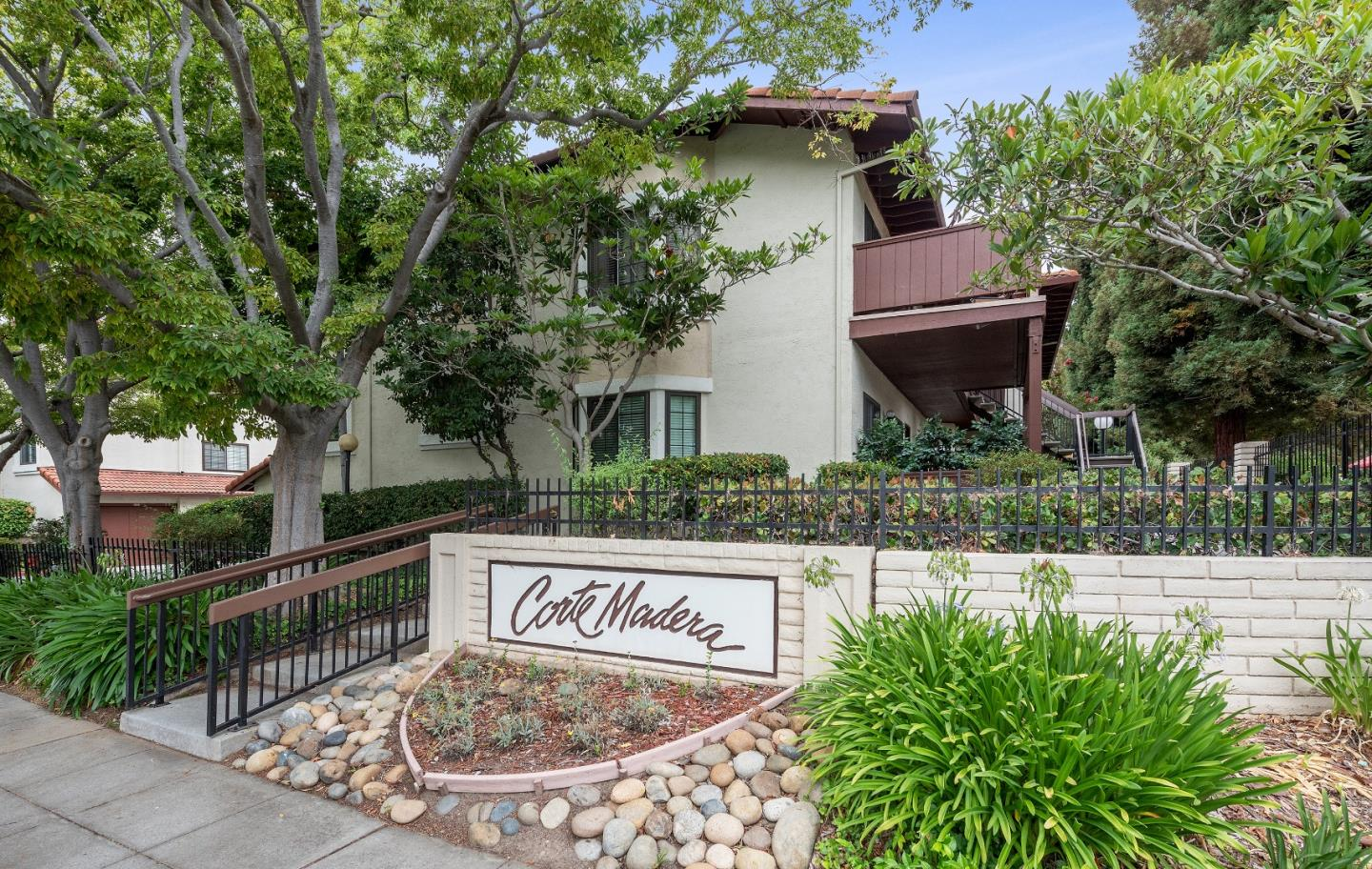 Beautifully updated 2 bed and 1 bath end unit condo offers a rare opportunity to live in the best location at Corte Madera Commons in Sunnyvale / Large living room with separate dining area shares a wall of windows / Generous size bedrooms and walk-in closet / New paint and interior doors / Granite counters and stainless steel appliances / Front patio where you can enjoy your morning coffee with views of Encinal Park / Central heating and air conditioning / Inside washer and dryer / Tandem 2 car garage with additional storage and automatic door opener / Community swimming pool and playgrounds / Sunnyvale Municipal Golf Course in the neighborhood / Excellent commute location is just minutes from downtown Sunnyvale and the Caltrain station / Close to Apple, Google, LinkedIn, Microsoft and many other tech companies / Easy access to Highways 237 and 101 and 85 will get you quickly to anywhere Silicon Valley / Vargas Elementary School, Sunnyvale Middle and Homestead High / Welcome Home !
