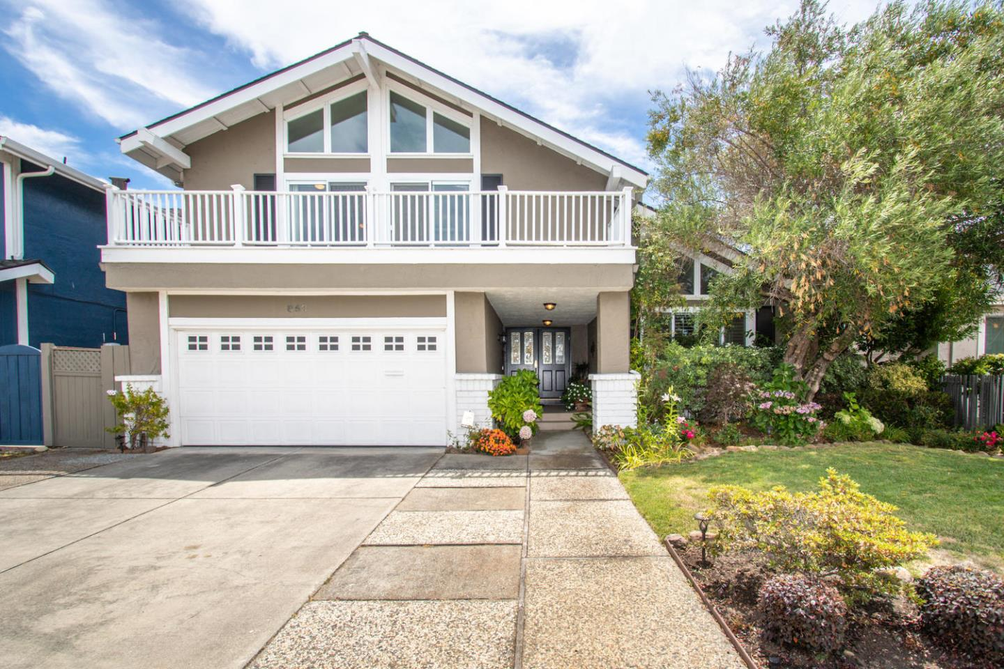 Welcome to this stunning four bedroom, two and one-half bath home located in one of Foster City's desirable neighborhoods.  Downstairs foyer opens onto a formal living room with fireplace, vaulted ceilings and spacious dining room. The gourmet eat-in kitchen features professional stainless steel appliances, granite counter top and plenty of cabinet space.  Adjoining family room with wood burning fireplace, custom built-in cabinetry and sliding glass doors opening to a private outdoor patio ideal for alfresco dining.  Upstairs master bedroom suite opens out to a large balcony, and expansive master bathroom.  Two additional bedrooms, convenient home office space complete with custom built-in desk, cabinets and Murphy bed.  Conveniently located near award-winning schools, public parks, and bike paths, with easy access to Highways 101 and 92. From the inside out, this is truly your dream home !  Virtual walk-thru:  https://youtu.be/LG5NIUipqk4