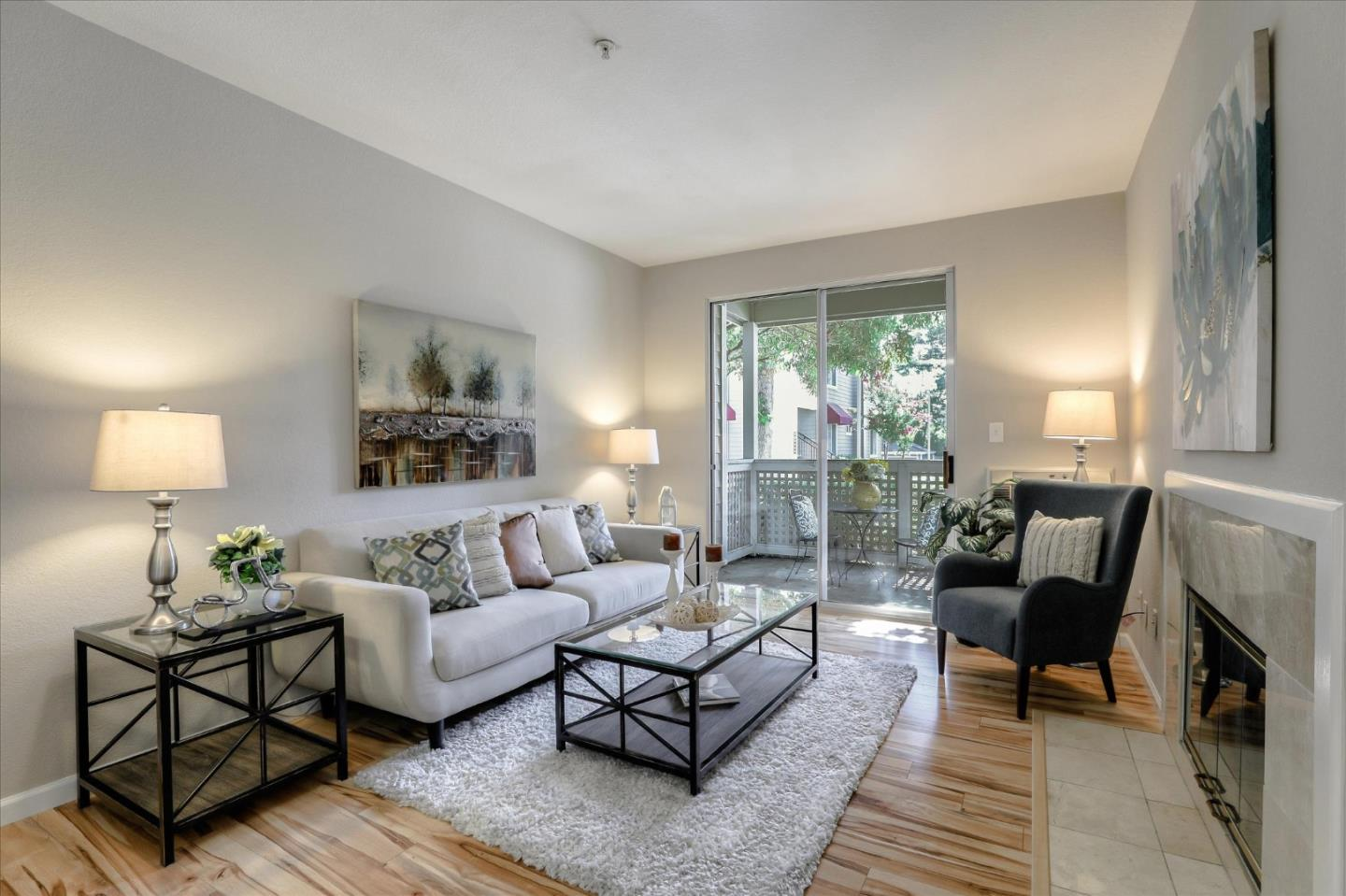 Fabulous ground level condo in the desirable Santa Elena community in the heart of Silicon Valley! Features include 2 bedrooms; 2 full baths; living area with fireplace; kitchen with an abundance of cabinetry, pantry, stainless steel appliances and open to the living area and dining area; master suite with dual closets, new carpet, mirrored closet doors and updated master bath with dual sink vanity and granite counters; updated hall bath; laminate flooring; freshly painted interior; private patio with additional storage; underground secure parking and additional storage unit. Community offers pool, spa & clubhouse. Great commute location close to Central Expressway and Highways 85, 101 & 237 and close to major employers including Apple, Google, LinkedIn and more!