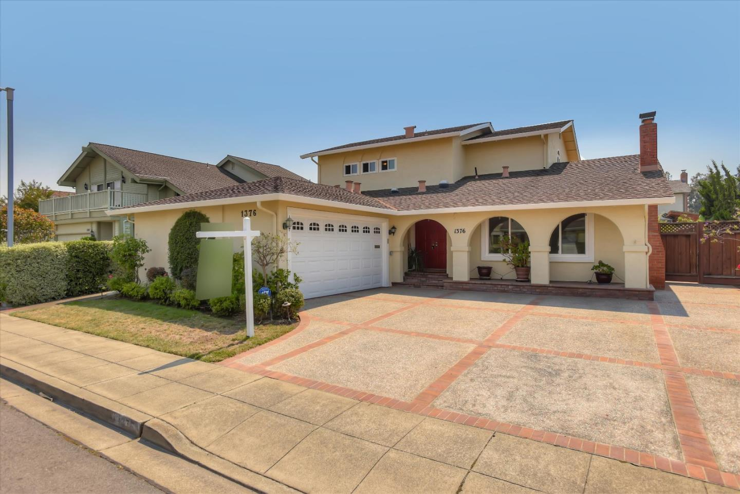 Fantastic opportunity to own one of Foster City's most highly sought after neighborhoods-Carmel Village. This impressive two story contemporary, rarely available, 5 bedroom, 2 master suites, 3 full baths sits on a 5,700 square foot lot and located on a quiet street. Loads of sunlight fill this bright open floor plan with chef's kitchen, custom cabinetry & stainless steel appliances, modern touches throughout, separate dining room, professionally landscaped front/back yards, dual pane windows, attached 2 car garage. Conveniently located in the heart of Foster City within a short walk to Sunfish Park, the Levee Bay Trail, great shopping and much more. Easy access to major transportation routes, technology campuses, and award winning Foster City schools. Perfect for the growing family! Make this wonderful home yours!
