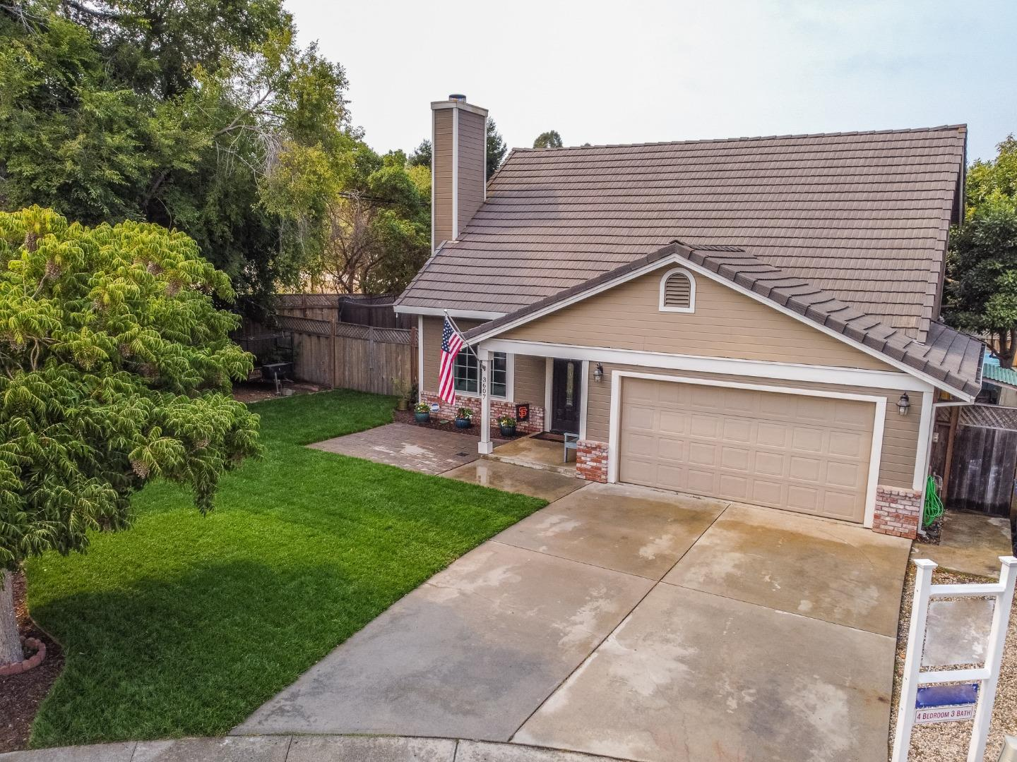 Gorgeous home in a desirable family friendly neighborhood in Sunny Soquel! Centrally located for an easy commute to Silicon Valley, this special home is walking distance to Soquel Village, Soquel High School, Anna Jean Cummings park, Soquel Creek, trails, beaches and restaurants in a safe cul-de-sac where kids can play freely. This special home will meet all of your expectations as you walk thru the welcoming front porch and open the door to the spacious living room with a lovely wood burning fireplace, wood flooring, high ceilings, upgraded top of the line Andersen windows, modern light fixtures and French doors leading to the large wrap around side and backyards. One bedroom is conveniently located on the 1st floor with a remodeled full bath for guests or in-laws. Master suite is upstairs with 2 additional bedrooms with barn doors leading to a Jack & Jill bathroom. Enjoy the beautiful fresh front lawn and delicious avocados from your very own avocado tree! Life is Good in Soquel!