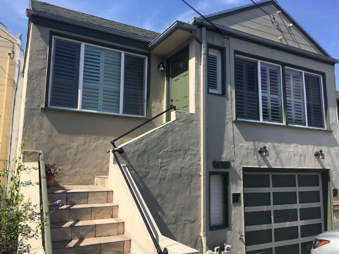 This property speaks to the San Francisco tradition. The location is a HUGE plus. Beautiful quaint property with easy access to interstate 280. Near San Francisco State and Stonestown Mall.  Many amenities with this property, central air, bonus space for his/her cave, and manicured hardwood floors throughout the home. Comfortable garage space for off-street and parking for your treasured guest.  When you open the door and see that beautiful fireplace and space, it will give you a wow moment. This property won't last.
