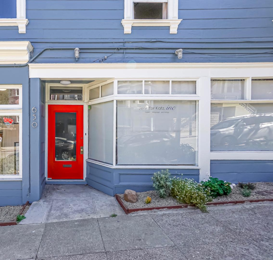 Commercial for Lease on Fillmore Street, Hayes Valley, San Francisco.  Vacant and ready for you to move your business right in! Sectioned, spacious, nice, clean and bright.  Laminated wood flooring throughout.  Highly Visible: One block from Alamo Square.  Perfect for office, intellectual services or small business operation.  Tenant to check in with the City Planning and Building Department for any other Conditional Usage of the space, current zoning is NC-1.   Desirable Location: Foot Traffic, Mixed Residential and Commercial Neighborhood, Minutes to Downtown San Francisco, City Hall, Restaurants, Safeway, Shops, Post Office, Banks, easy access to Freeways 80, 101 and 280.