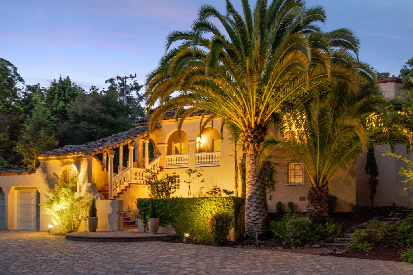 1930 Spanish Revival Private Retreat nestled in the Burlingame Hills Neighborhood.  Location is perfectly positioned between Silicon Valley, biotechnology center of the US in South San Francisco, 16 miles to downtown San Francisco and minutes to San Francisco International Airport. This 5 bedroom home on a 24,698 sq ft lot surrounded by 9 mature oak trees, stunning palm trees and a creek that runs year round along with multiple outdoor decks, views of canyon, gazebo, outdoor fireplace, pergola covered sitting area and a covered patio with original artist paint style resembling a Spanish Hacienda is one of a kind to entertain and enjoy all year round. Downstairs you will find great sq. footage needed in today's options of work from home and distance learning.  There are two bedrooms/bonus rooms/office space  for you to choose what works best for your needs.Top rated Burlingame Schools, walking distance to Hoover Elementary plus a 5-minute drive to charming downtown Burlingame Avenue.