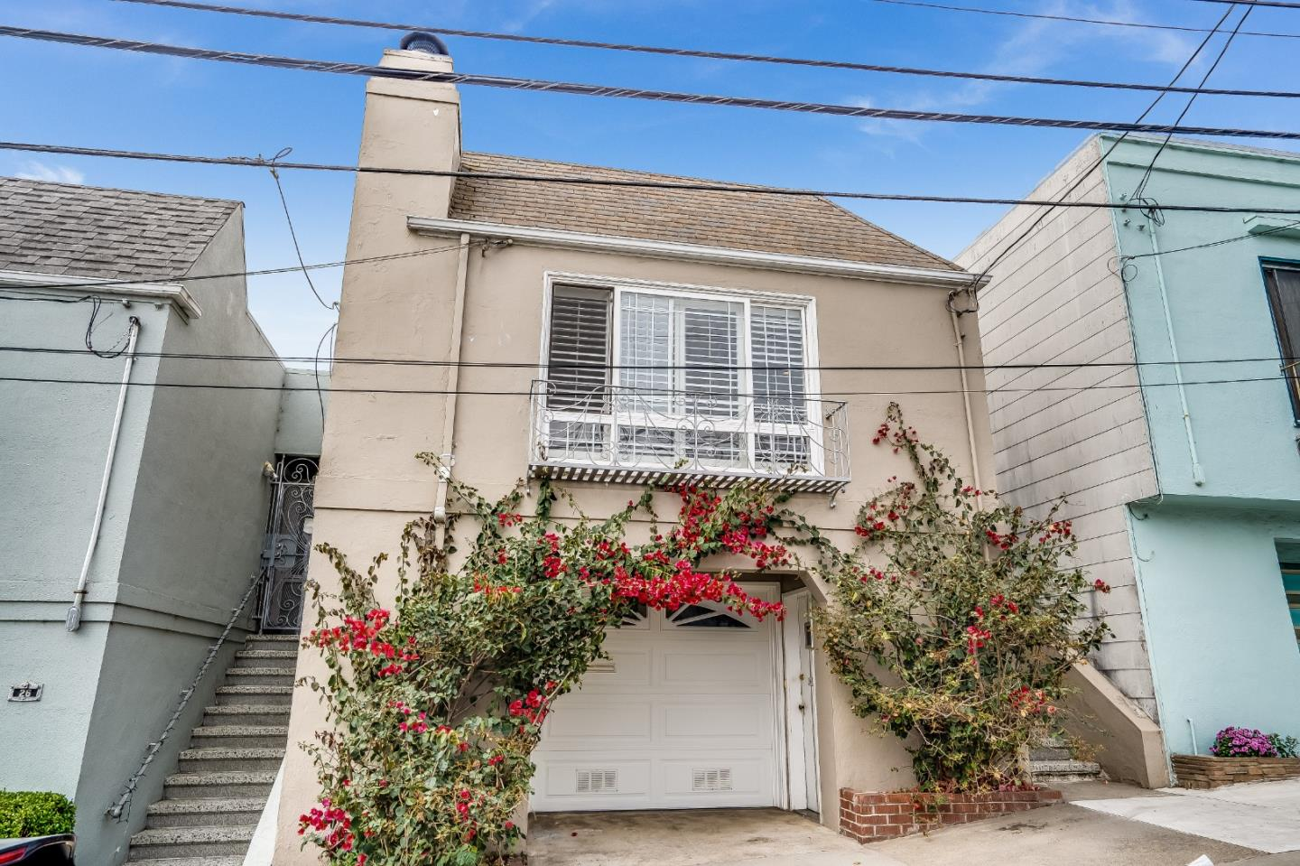 Incredibly charming Ingleside Heights home located on a very private culdesac.  The interior of the home has recently been painted and original hardwood flooring has been refinished. Large living room with cozy wood burning fireplace and lots of natural light from floor to ceiling windows. Dining area for entertaining. Fantastic remodeled kitchen with custom cabinetry including pantry, granite counters and tile backsplash, extra deep sink. The showstopper is the 6 burner, double oven, double broiler, vintage Wedgewood stove...functional and super chic. Upstairs has 2 large bedrooms with views of the rear yard and 1 full bathroom with stall shower and bathtub. Downstairs has additional finished space including a full bathroom and separate entrance.  Beautiful rear yard that is fenced and landscaped.  Attached oversized 1 car garage provides additional storage.  Incredible location with easy access to 280 and close proximity to public transportation, schools, shopping and entertainment.