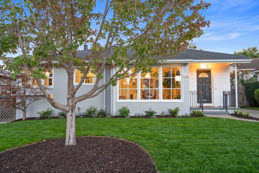 """A Ray of Sunshine"" -This bright and open single-story home in Burlingame's prime Ray Park neighborhood shines from a stylish lifestyle makeover by The Ruiz-Johnson Teams well-known interior artists. Upon entering the foyer into the open living room/family room w/ floor-to-ceiling windows, you will appreciate the chic upgrades and attention to detail. The formal dining room w/ its large bay window is perfect for those special occasions w/ family and friends. Warm by the fireplace on those cooler evenings while enjoying the view of the covered patio deck and yard. The primary bedroom has french door access to the freshly landscaped yard with an old-world brick fire pit and a coveted enclosed grassy backyard. The finished detached garage is perfect as an office, Zoom Room, or gym. Designer paint palette, brand new bathroom, remodeled second bath, detached living space/garage are just a few of the upgrades made to 1701 Ray Drive making it one of the more charming homes on the market."