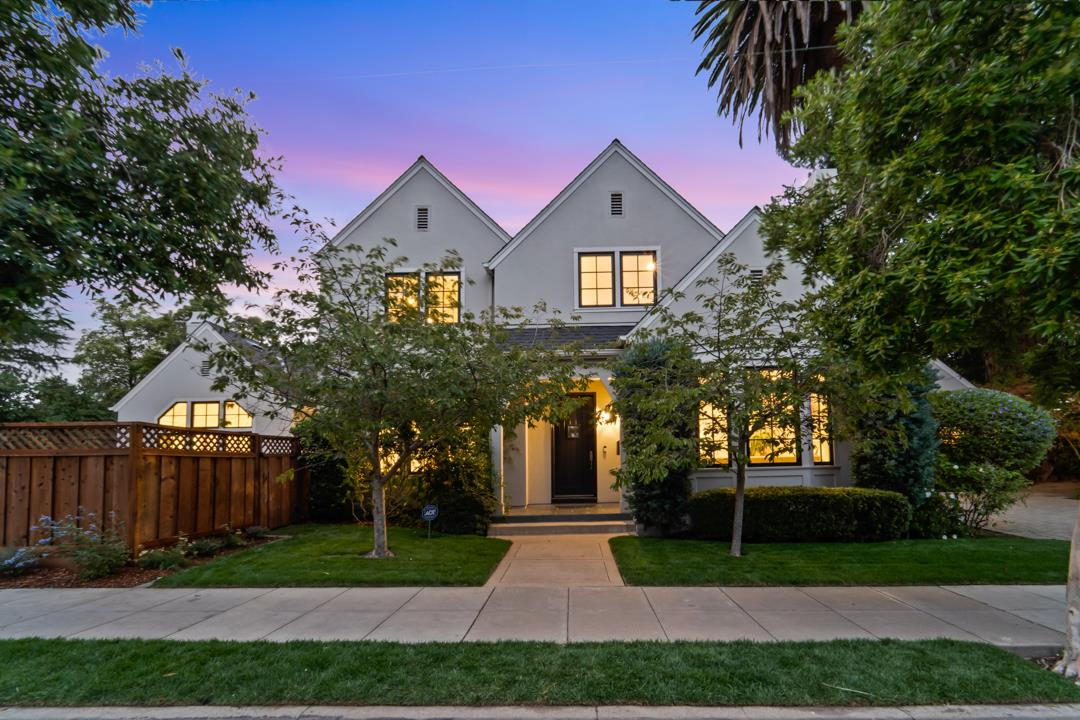 An absolutely exquisite and timeless build in the Easton Addition neighborhood and is the epitome of Burlingame living.High ceilings, 8 ft doors, solid wood flooring, heavy case work and multi piece crown that could only work in a home of this magnitude. In a great room with the WOW factor, the kitchen is a work of art with Viking and Bosch, custom cabinets, honed counters and island. Family room with open beam ceiling, large windows and speakers. Fireplace flanked with French doors to backyard. Bedroom/Office and full bath on the main level. Second floor with Master suite, 2 additional bedrooms, full bath and A/C. Master features spa, stone shower, walk-in closet. Finished basement w/speakers, half bath and enough room for a home theater and pool table - the perfect playroom for a growing family. Stamped concrete patio, mature landscaping and lawn area. 2 car garage w/storage.  Top schools, walking distance to Downtown Burlingame and Broadway. Easy access to SF and Silicon Valley.